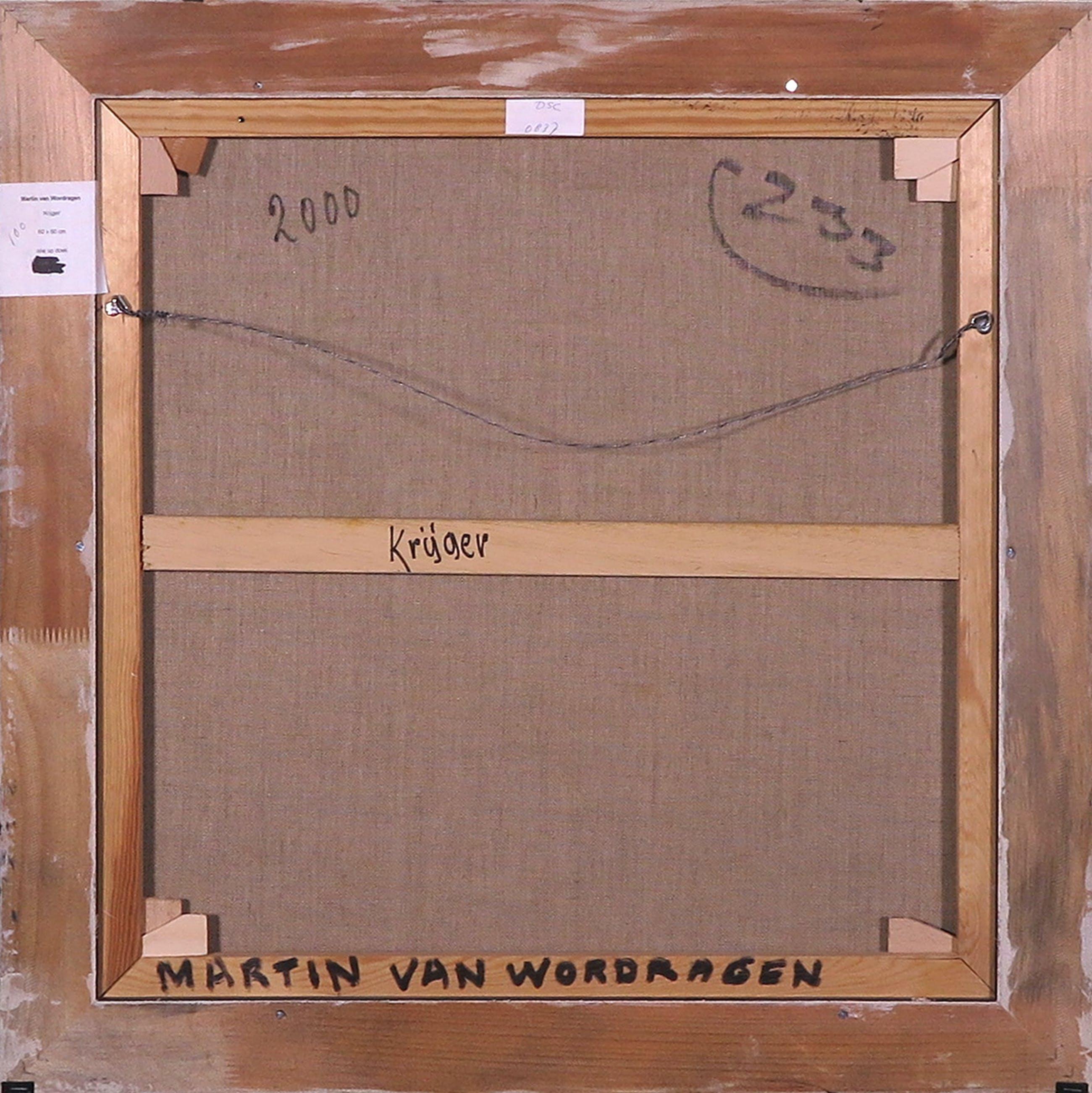 Martin van Wordragen - Olieverf op doek, Krijger, Ingelijst kopen? Bied vanaf 150!