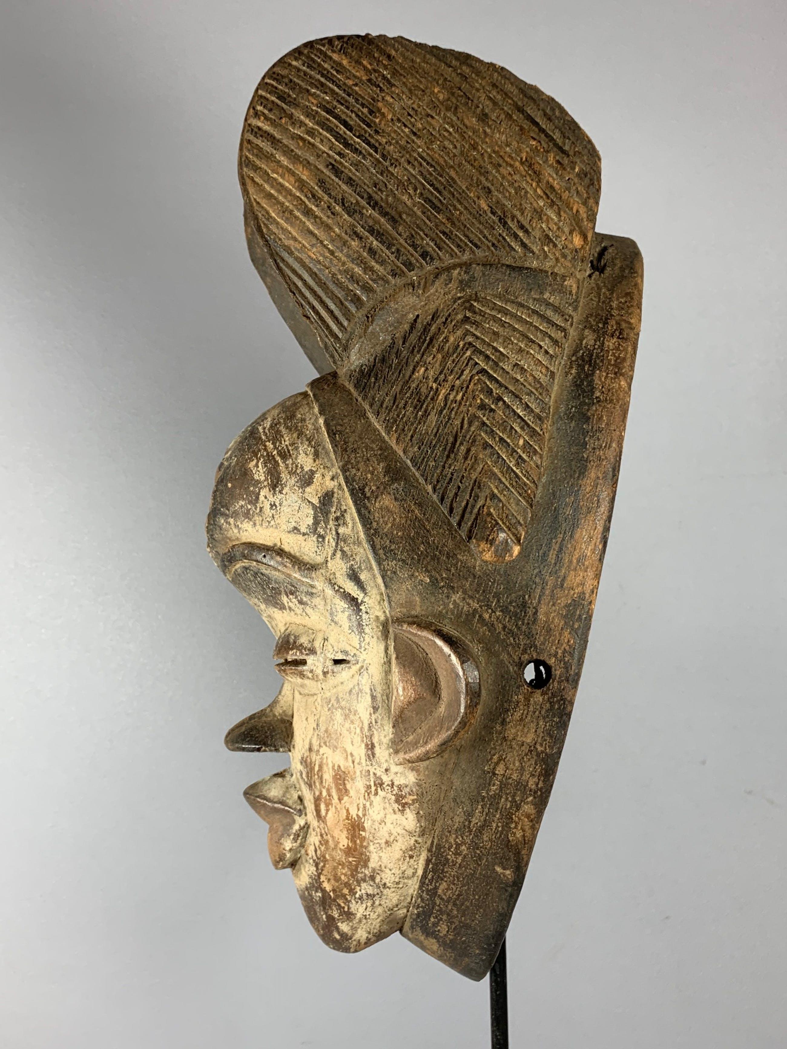 Punu - African female mask from the Punu - Gabon. kopen? Bied vanaf 45!