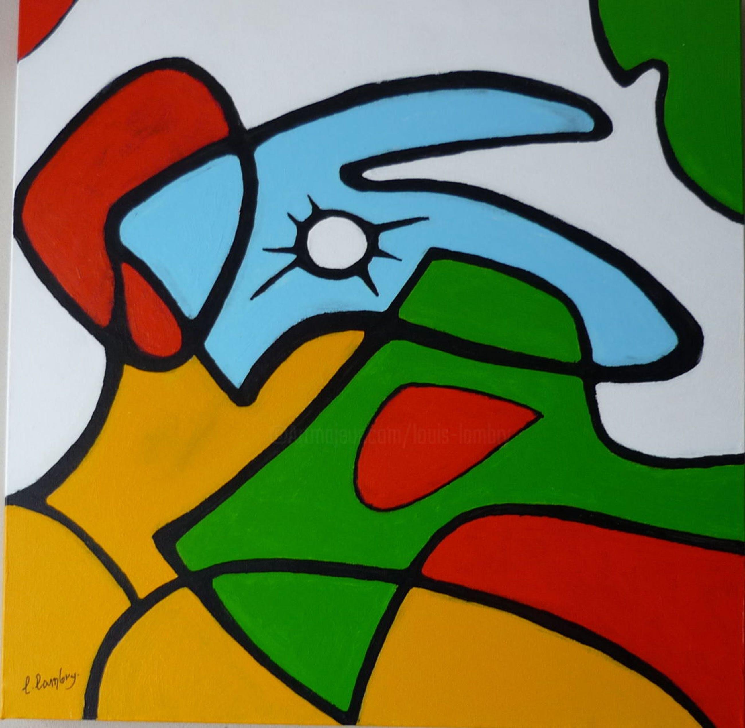 """Louis Lambry - Abstract """" Siesta"""" kopen? Bied vanaf 150!"""