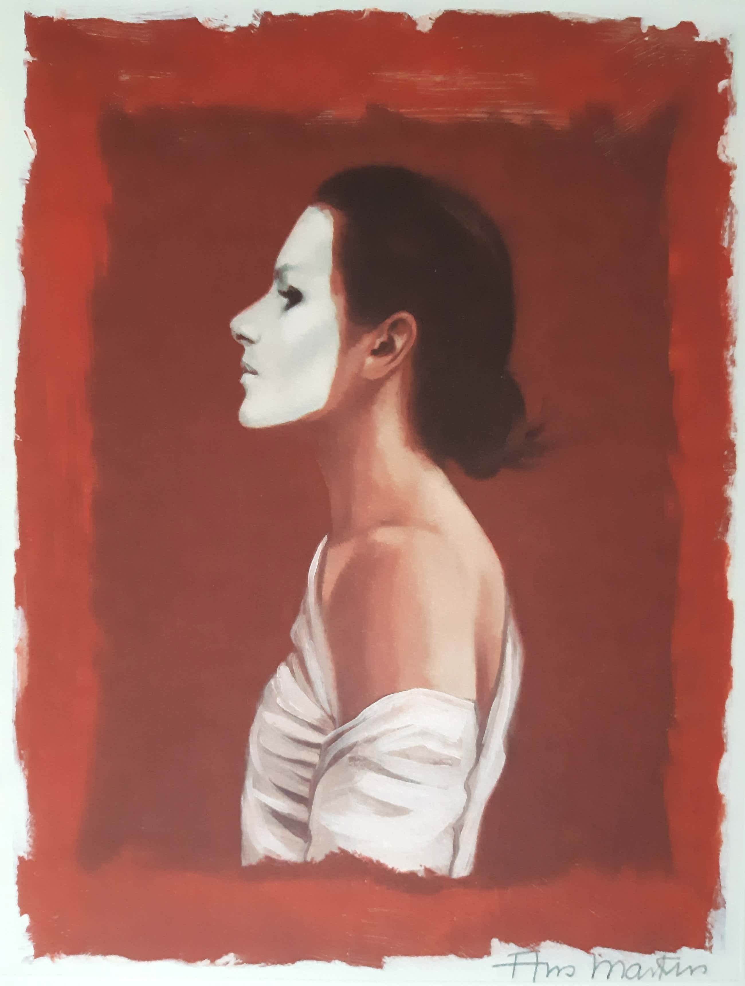 Ans Markus - Zelfportret met wit masker kopen? Bied vanaf 175!
