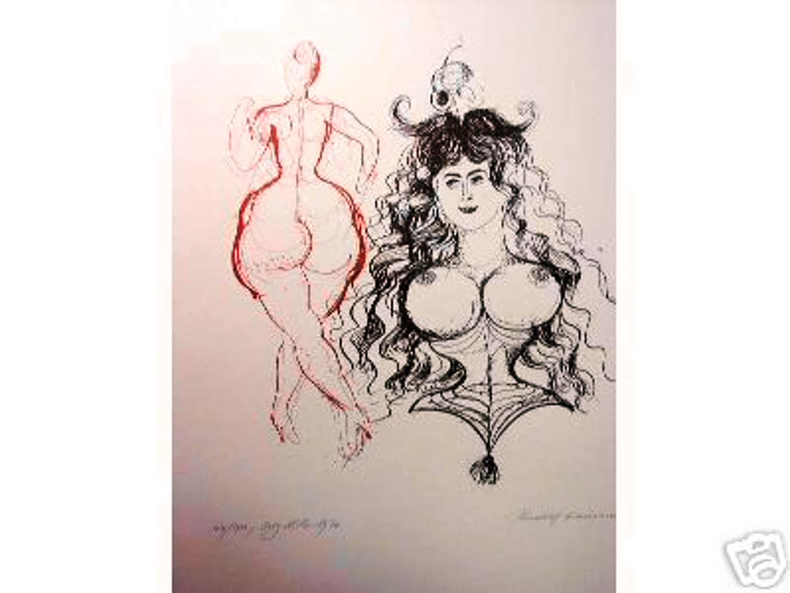 Rudolf Hausner - Andromeda, 1970 kopen? Bied vanaf 190!