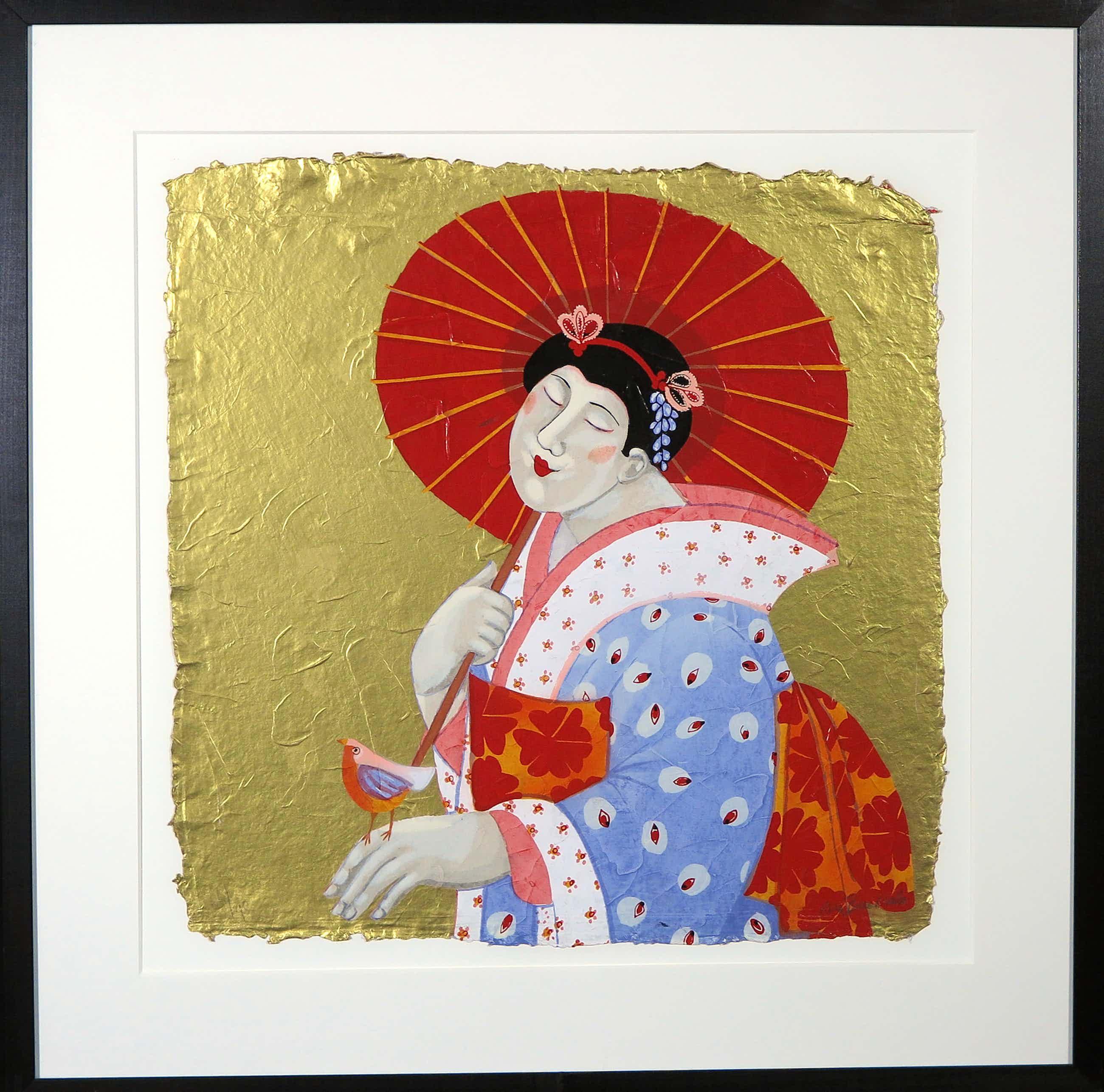 Ada Breedveld - Zeefdruk, Femmes Japonnais II - Ingelijst kopen? Bied vanaf 80!