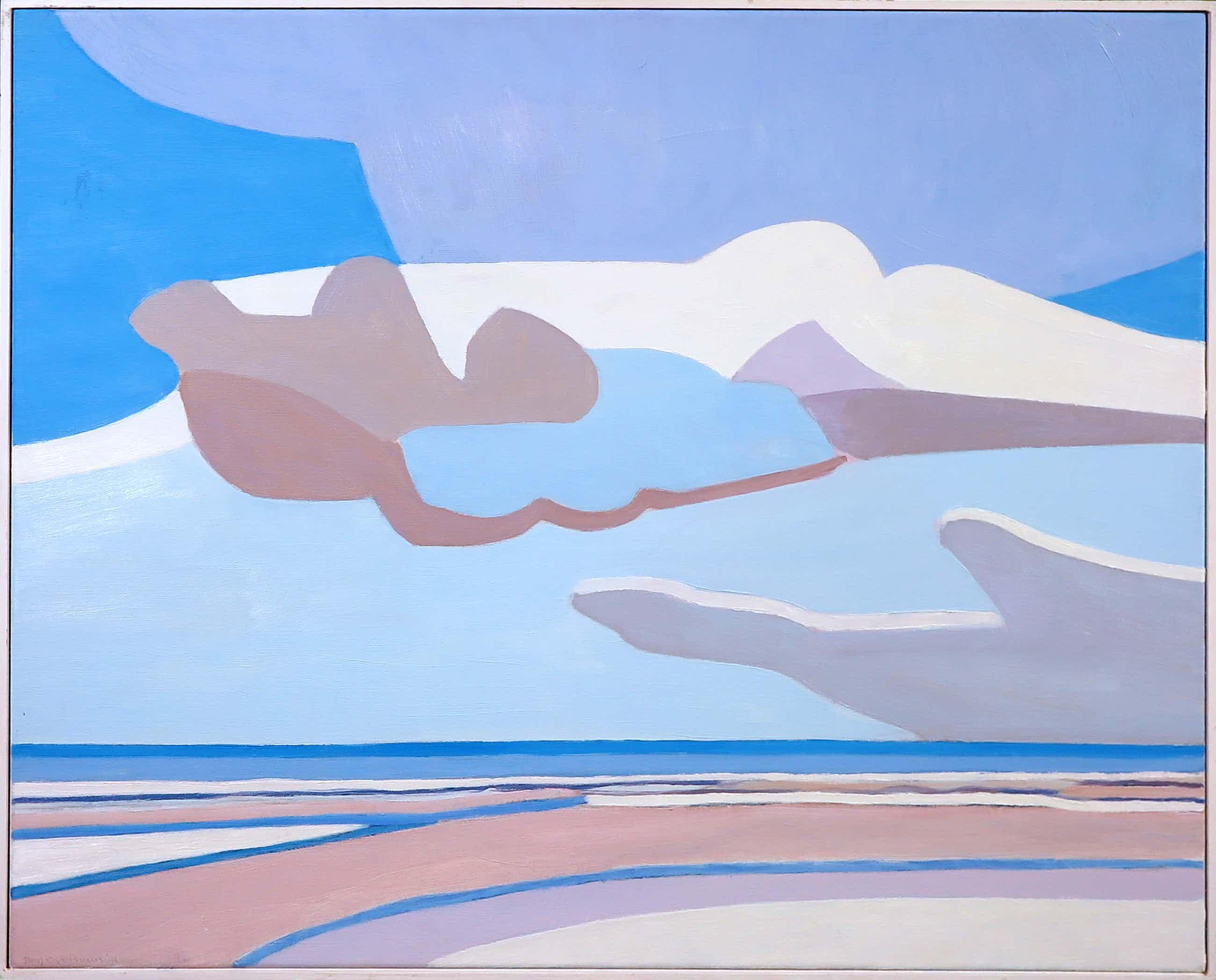 Paul Overhaus - Acryl op doek, Blauwe lucht met wolken - Ingelijst kopen? Bied vanaf 160!