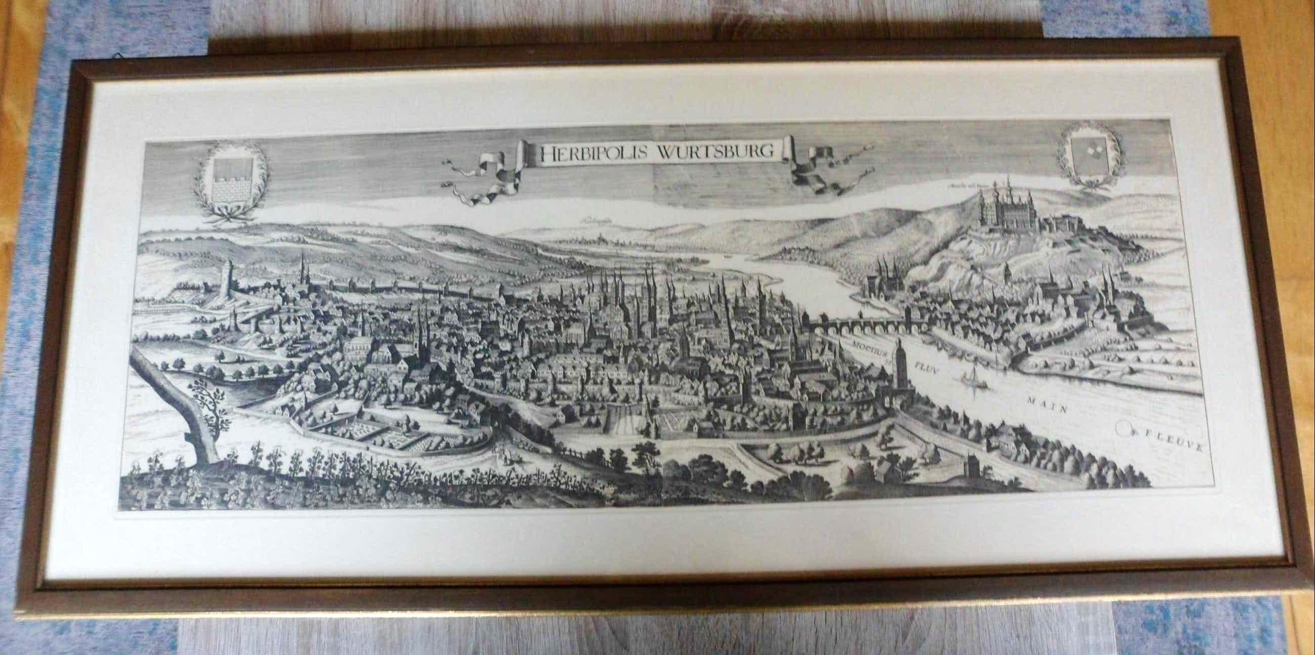 Niet of onleesbaar gesigneerd - Landkaart van Herbipolis - Wurtsburg kopen? Bied vanaf 1!