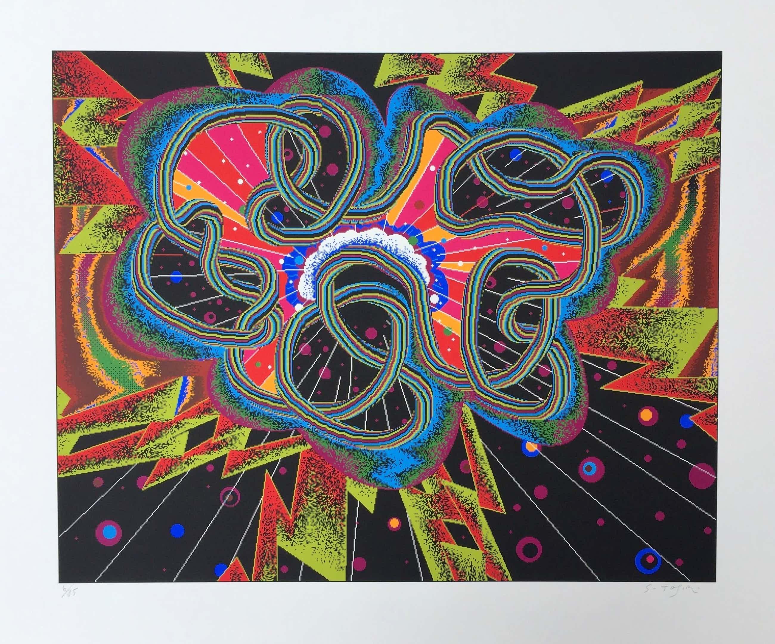 Shinkichi Tajiri - zeldzame knoop - gesigneerde zeefdruk 'Big Bang' - oplage 85 ex kopen? Bied vanaf 140!