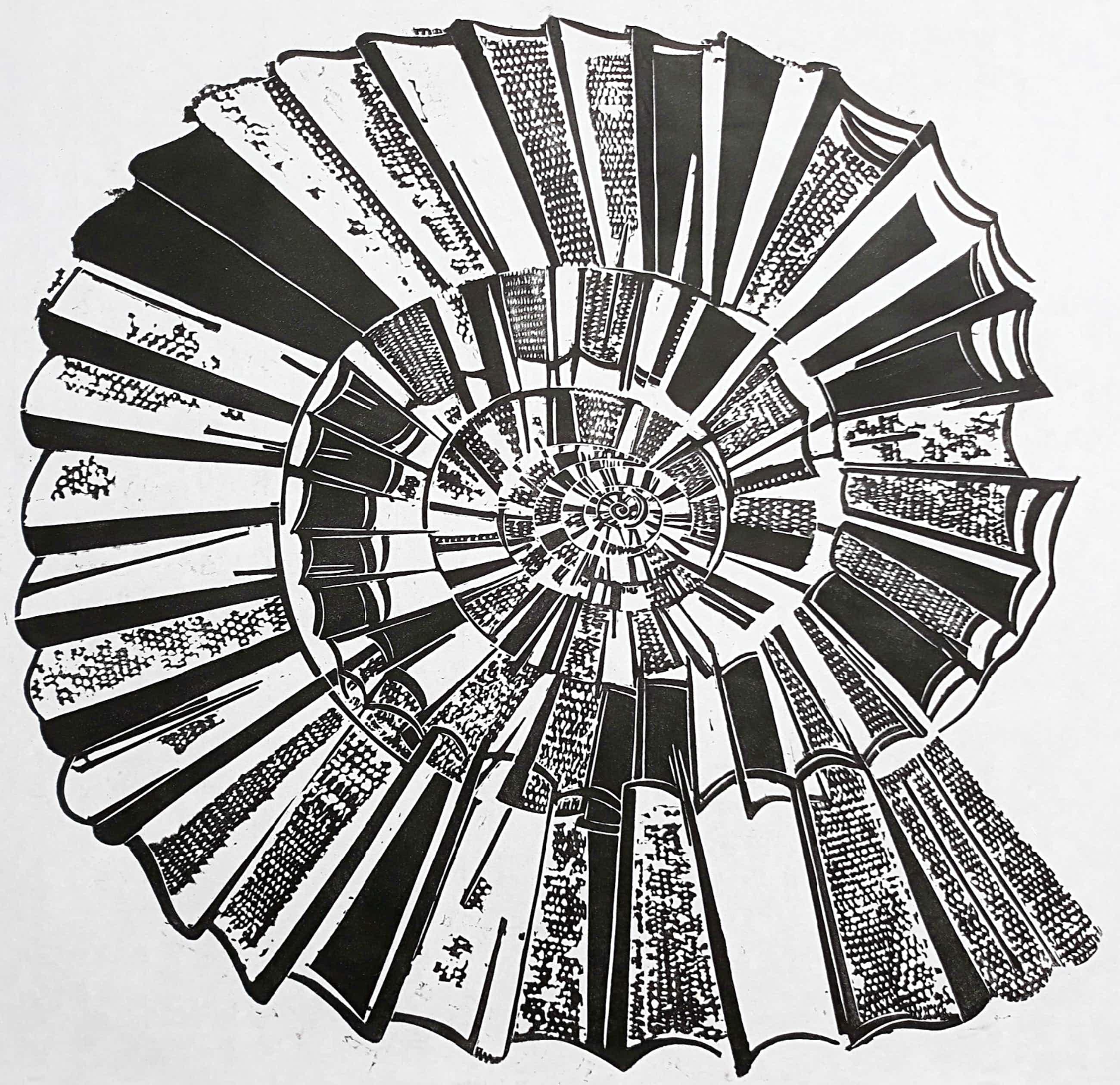 Eduard Flor - Ammoniet, linoleumsnede op rijstpapier kopen? Bied vanaf 55!
