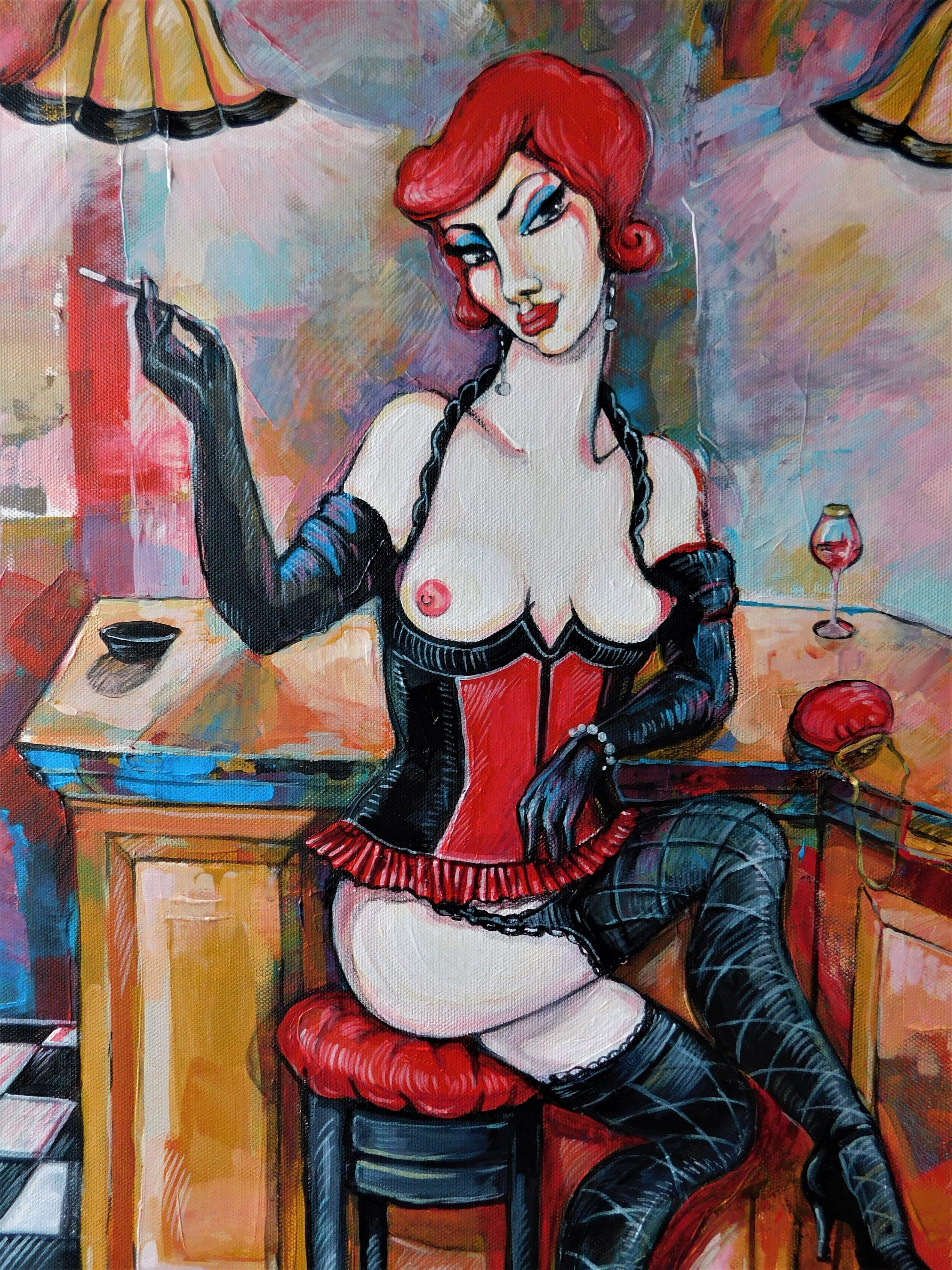 "Natia Antadze - ""Frau in Bar"" kopen? Bied vanaf 90!"