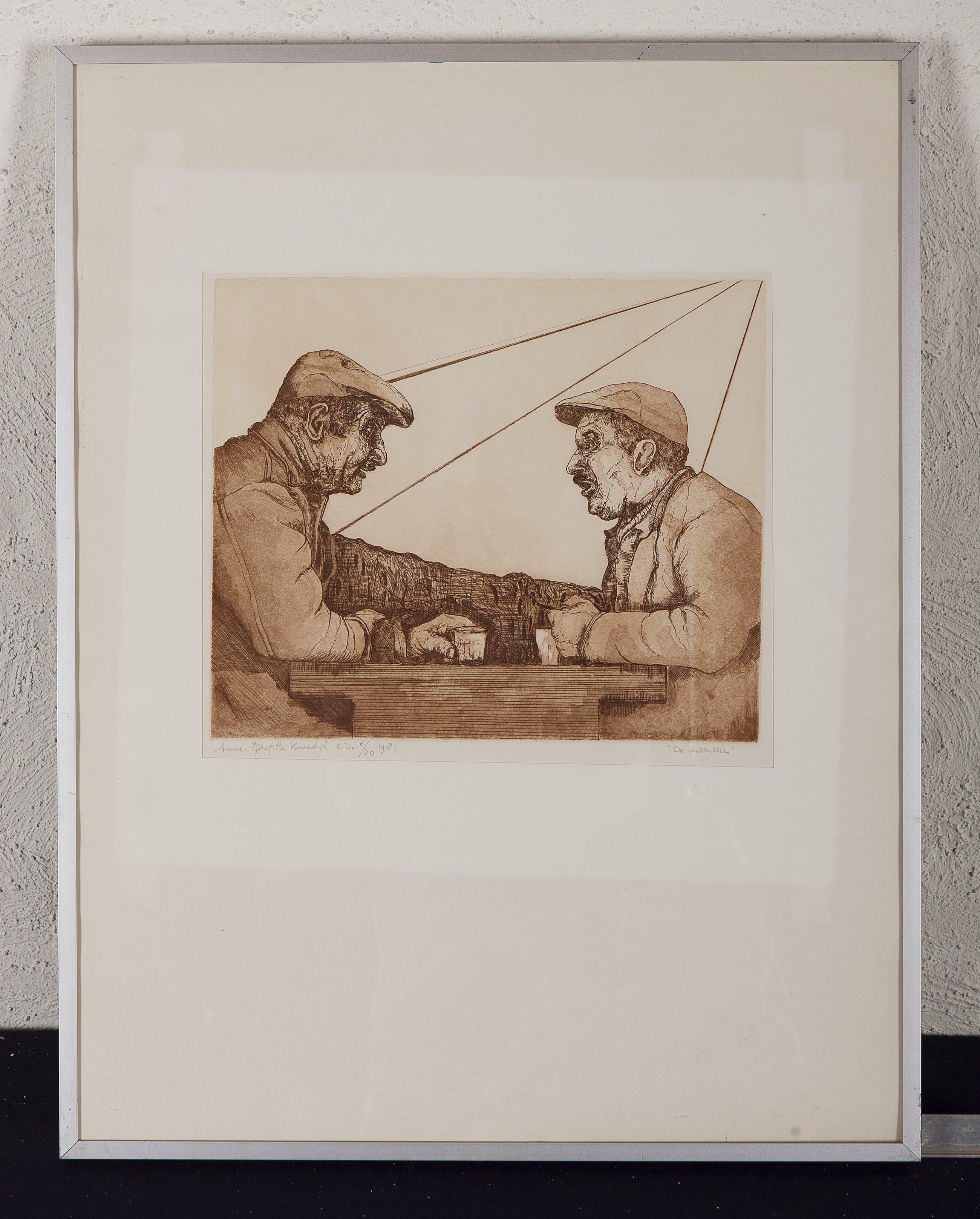 Anne-Brigitte Kwadijk - De discussie - 6/20 - 1981 - kleurenets op papier kopen? Bied vanaf 20!