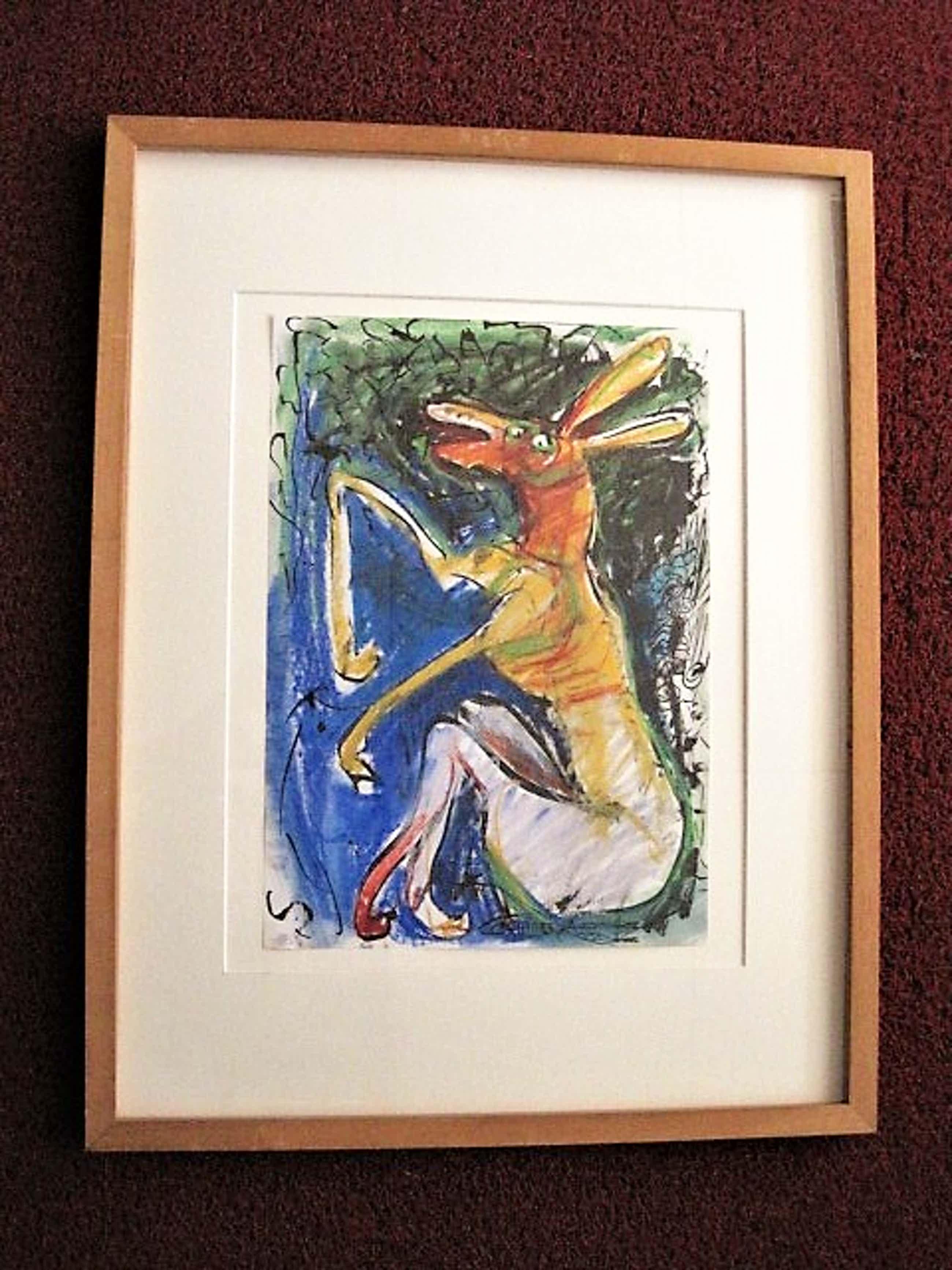 Edith Cammenga - Grote expressionistische Gem.Technk. Voorstelling met figuren - gesigneerd kopen? Bied vanaf 20!