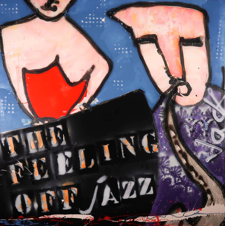 Jack Liemburg - Gemengde techniek op doek, The Feeling of Jazz (Groot) kopen? Bied vanaf 100!