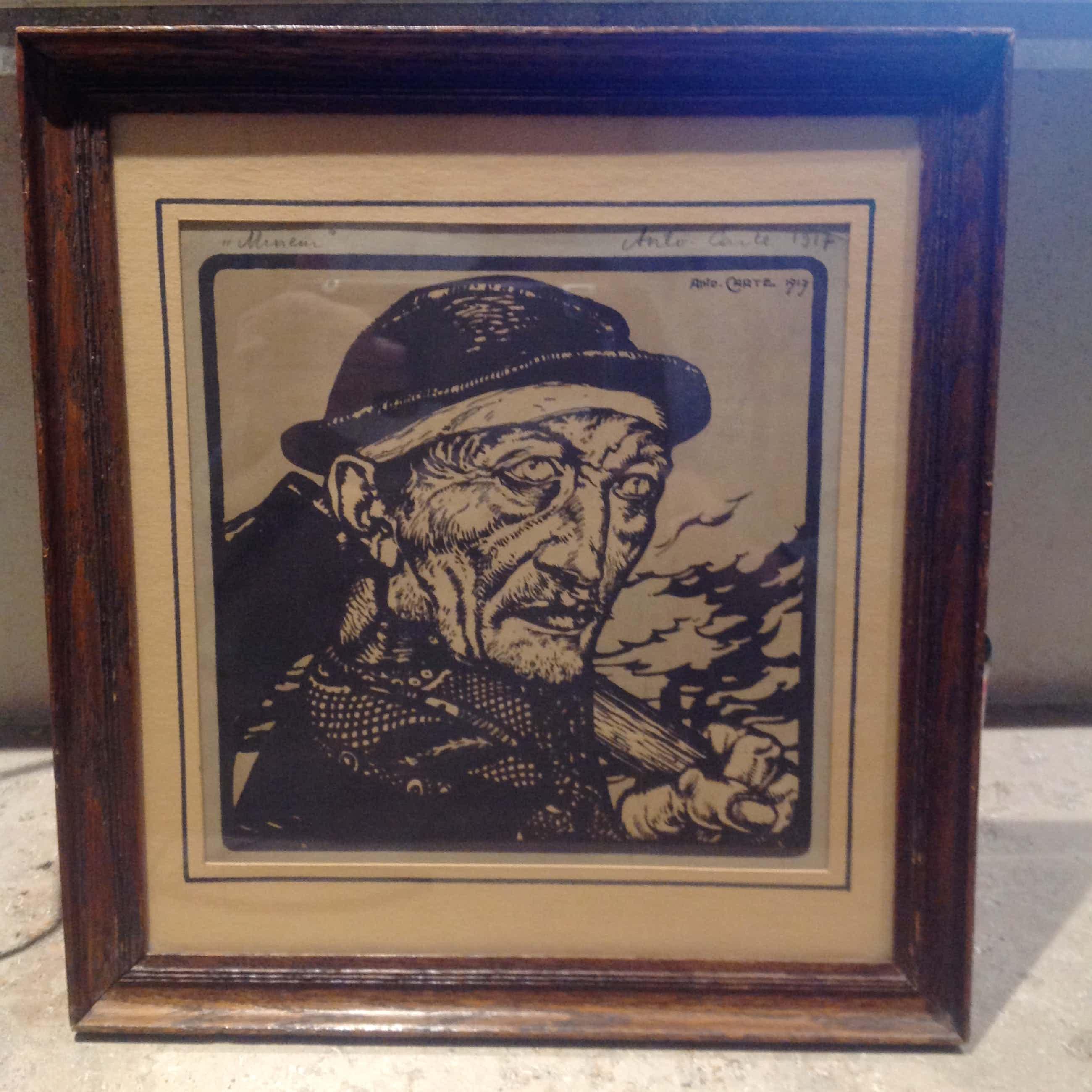 "Anto Carte - Lithografie "" mineur "" 1917 kopen? Bied vanaf 200!"