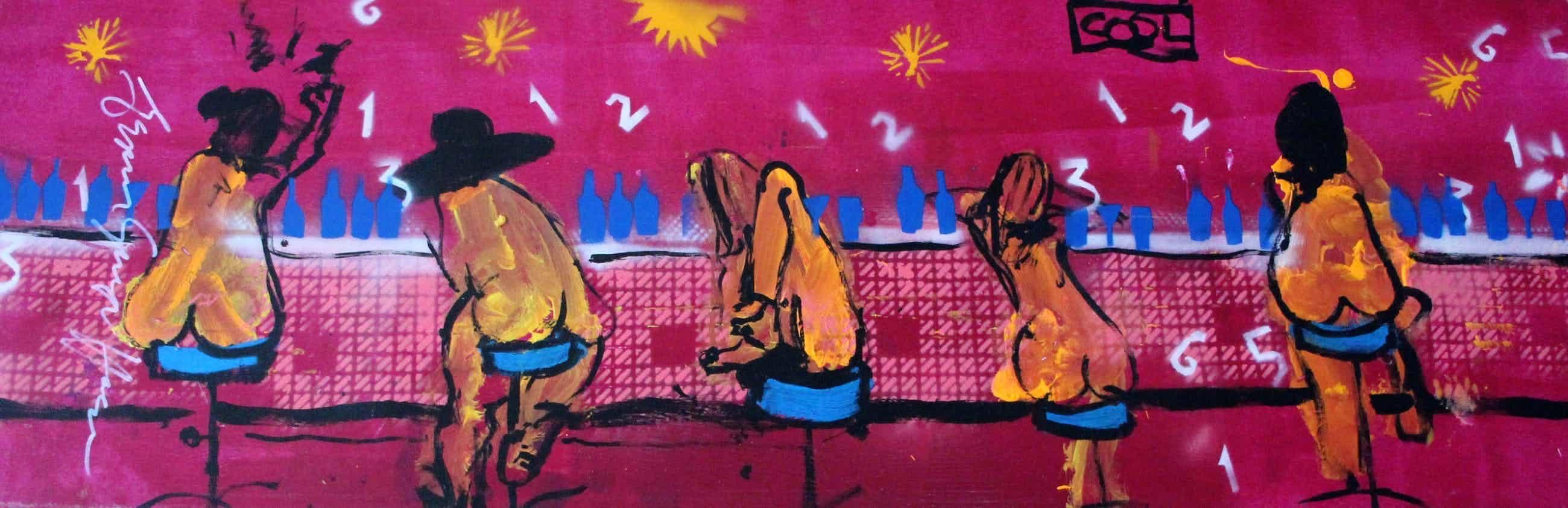 Espen Hagen - Acrylverf op doek - groot kleurrijk werk!! kopen? Bied vanaf 399!
