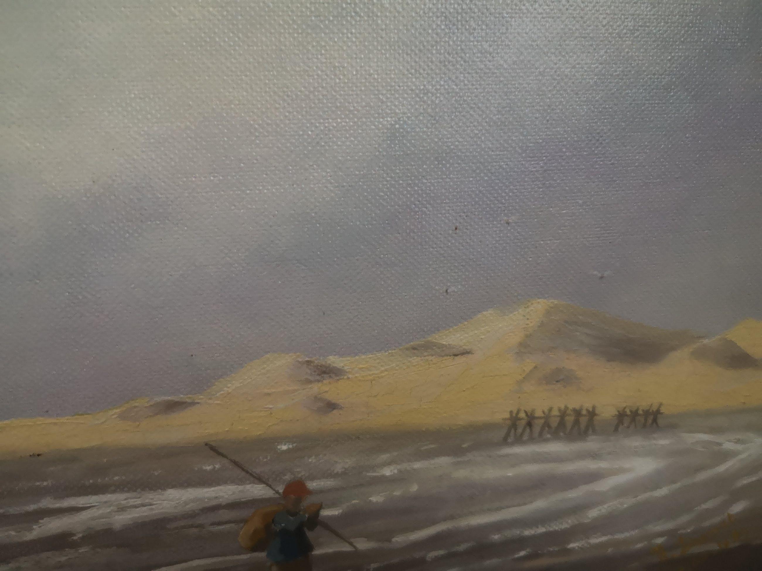 Niet of onleesbaar gesigneerd - Garnaalvissers aan het strand kopen? Bied vanaf 1!
