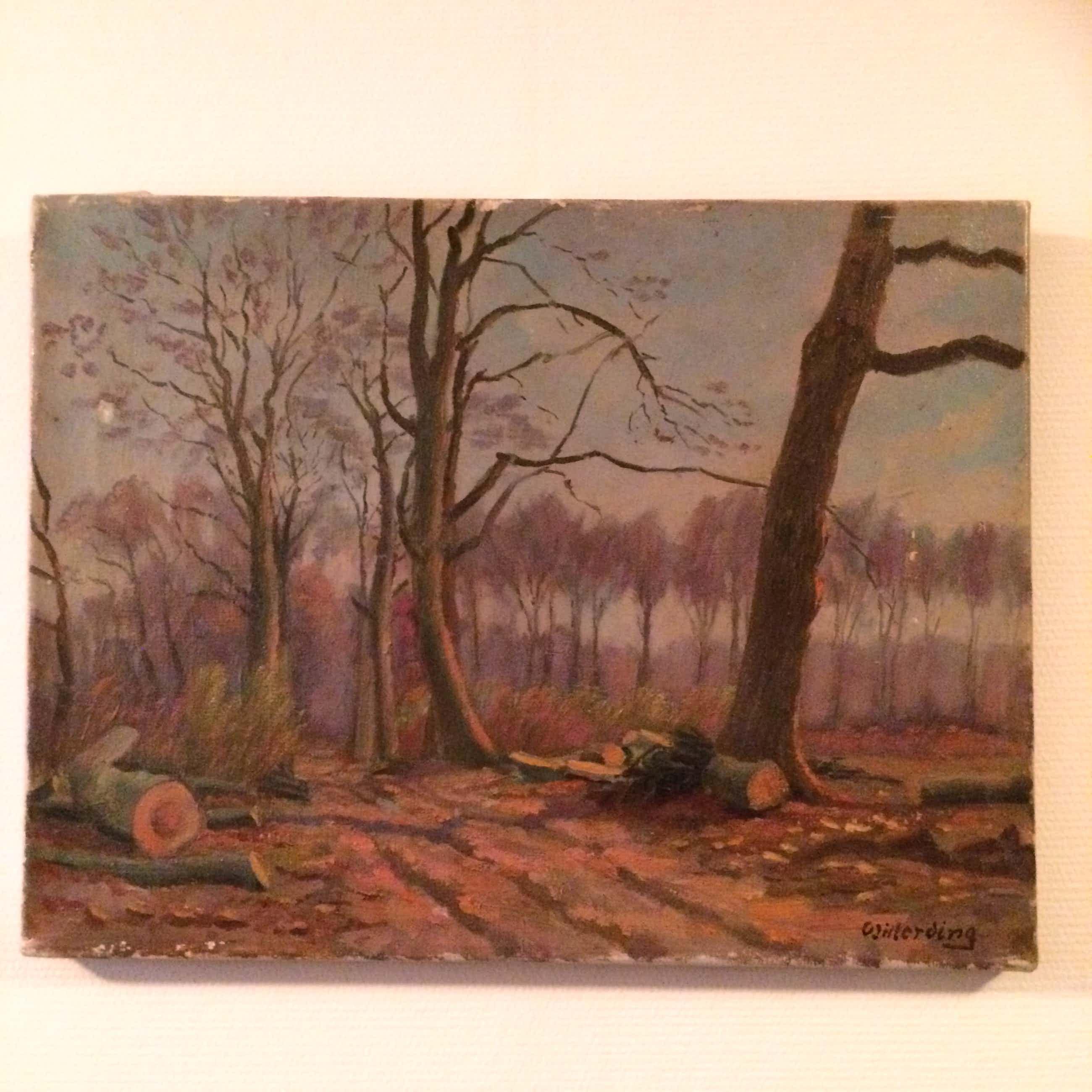 K.J. Willerding - Bos landschap kopen? Bied vanaf 250!