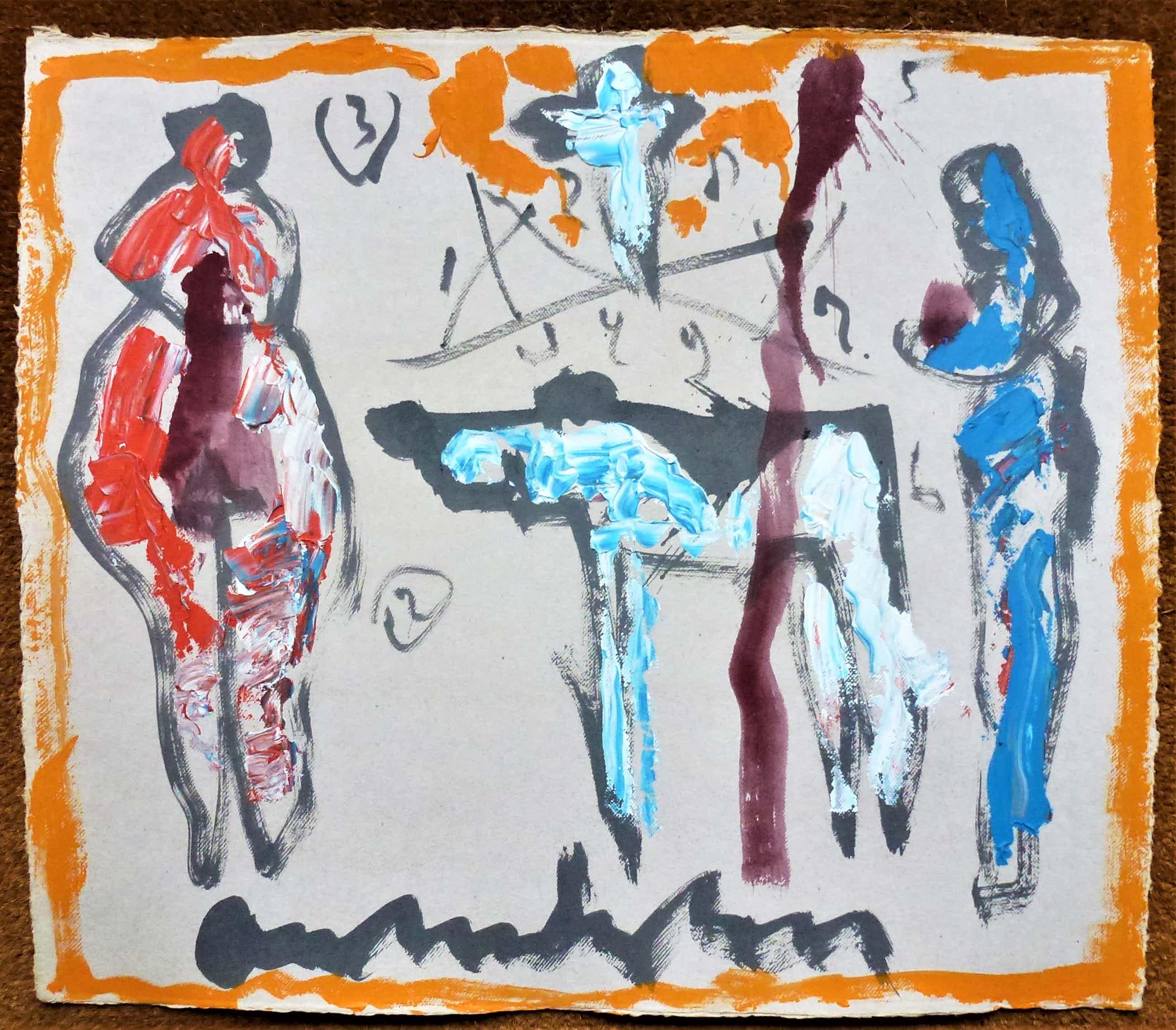 Anton Heyboer - Anton Heyboer Symboliek Mooie aparte schildering . kopen? Bied vanaf 375!