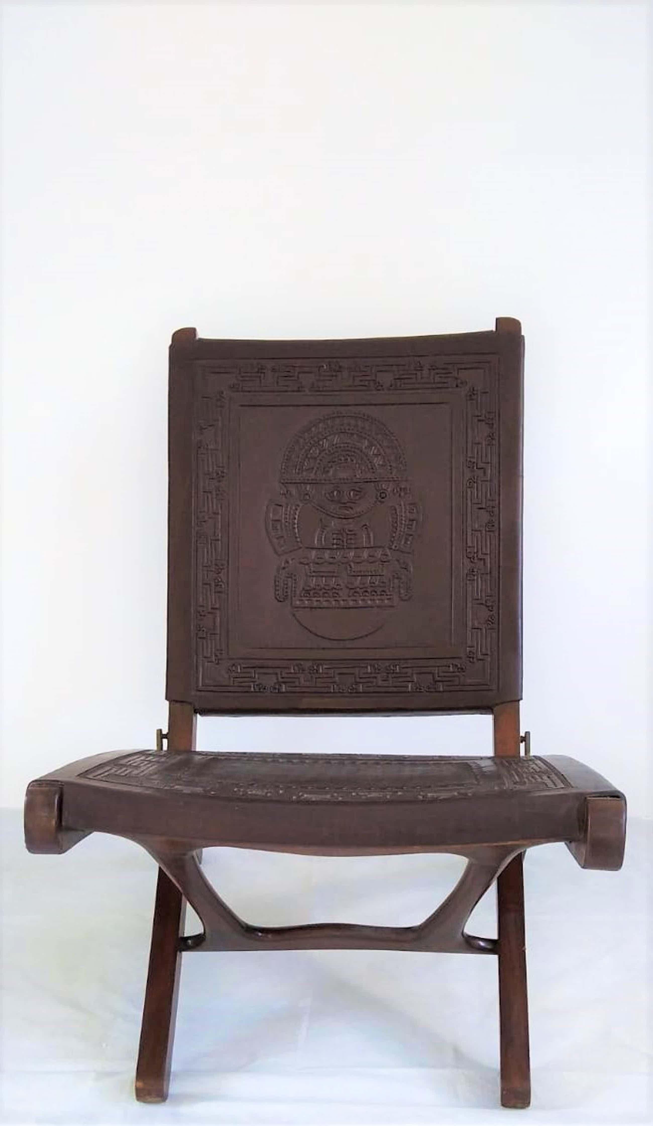 Angel Pazmino, Muebles De Estilo - Prachtige leren fauteuil ontworpen door Angel I. Pazmino, voor Muebles De Estilo kopen? Bied vanaf 250!