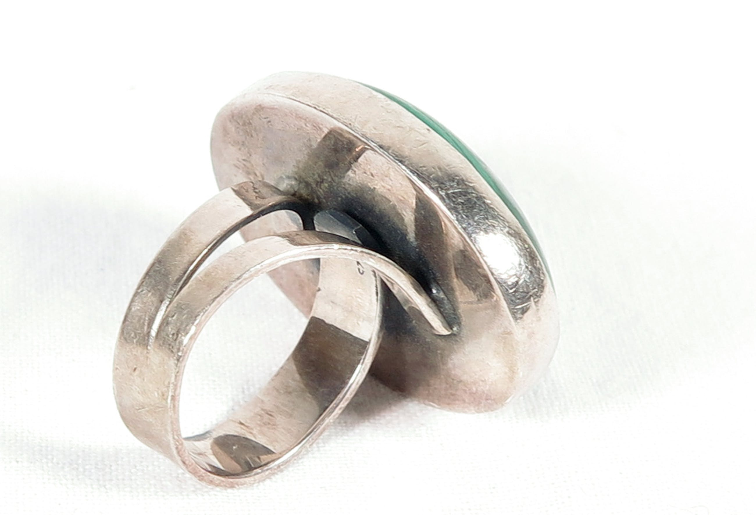 Ketting en ring van malachiet en zilver kopen? Bied vanaf 1!