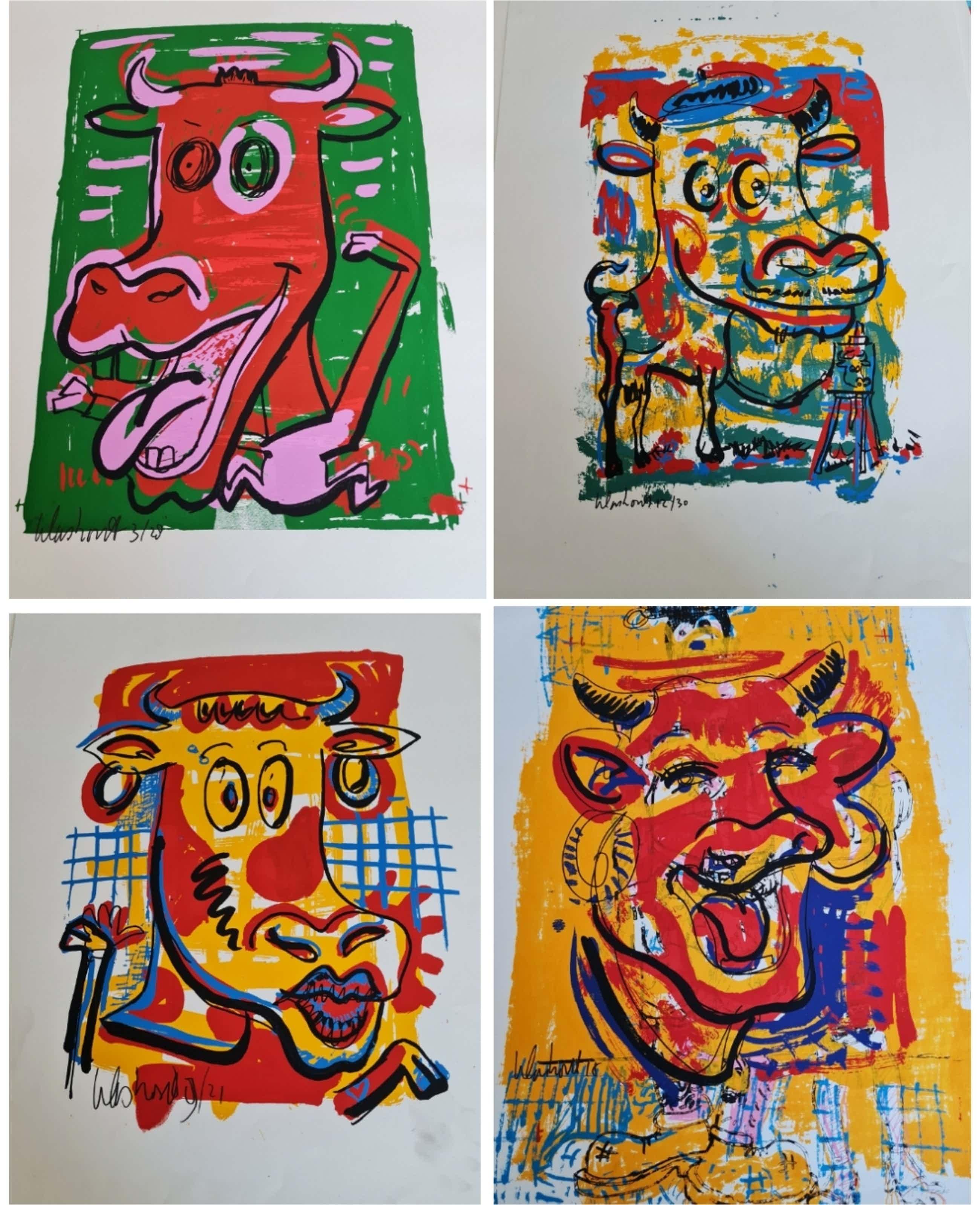 Peter Klashorst - Lot van 4 zeefdrukken - gesigneerd kopen? Bied vanaf 116!