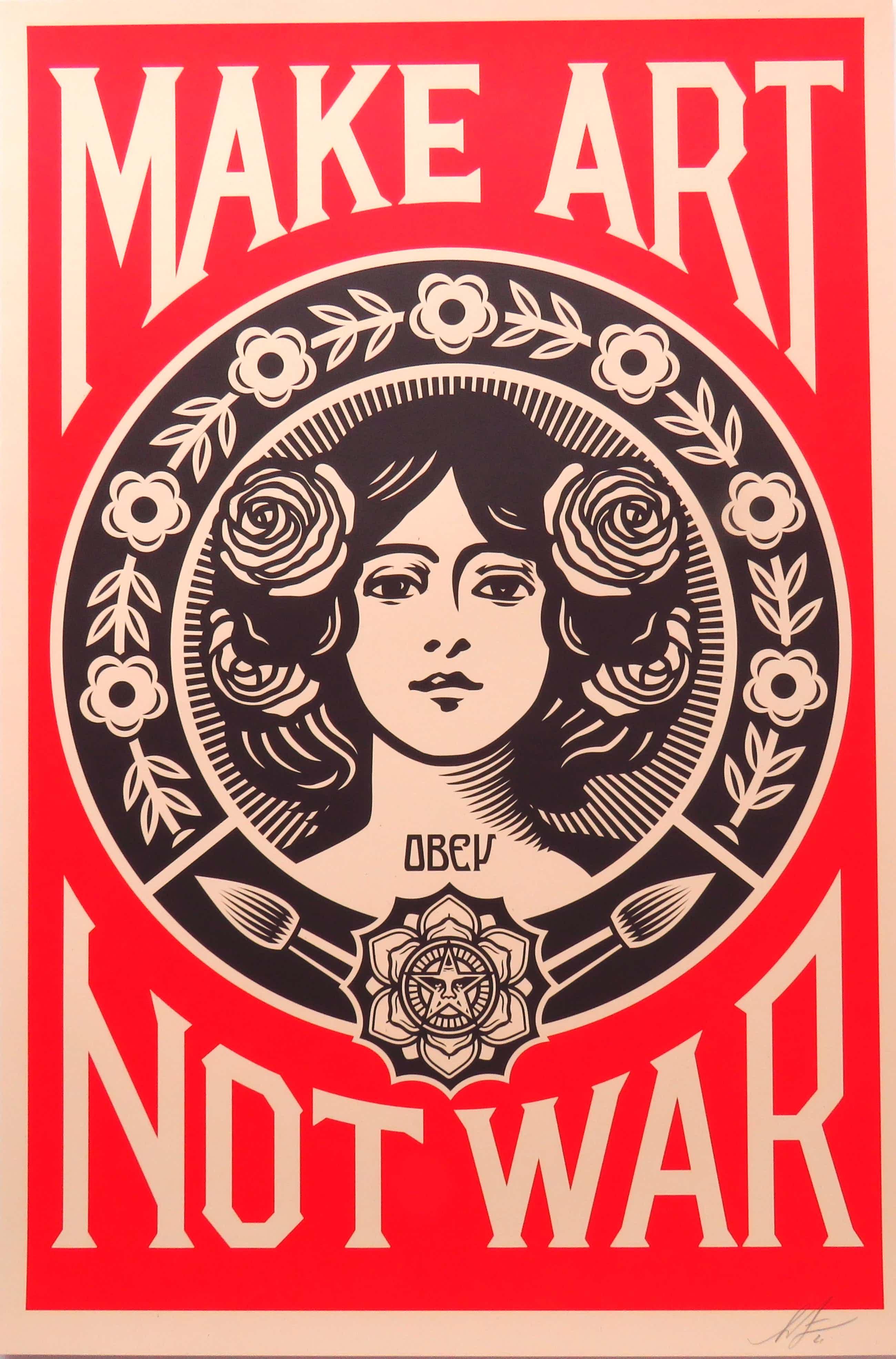 Shepard Fairey - Make Art, Not War kopen? Bied vanaf 80!