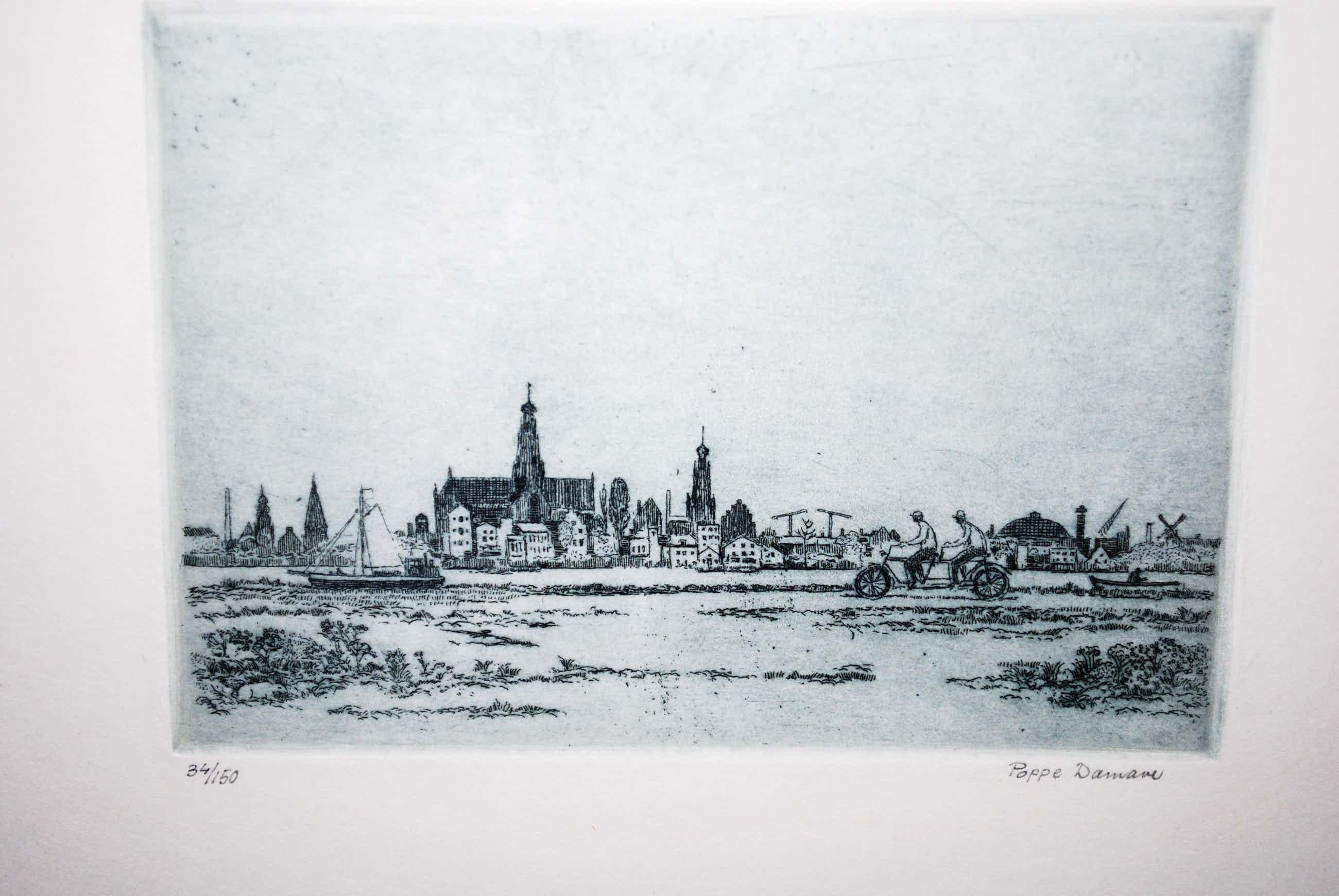 Poppe Damave - ets, oplage 150 - Langs het Spaarne, Haarlem kopen? Bied vanaf 35!