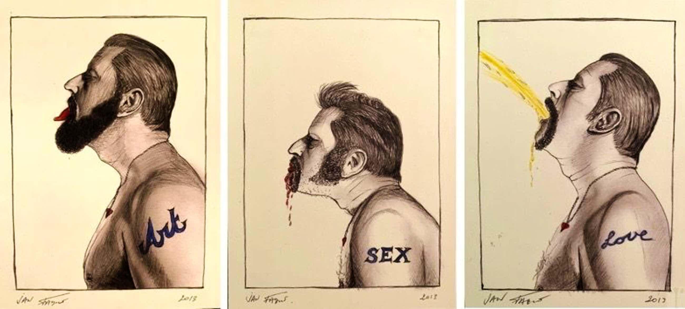 Jan Fabre - Art Sex Love, Tryptich - 2013 - 75 exemplaren kopen? Bied vanaf 1350!