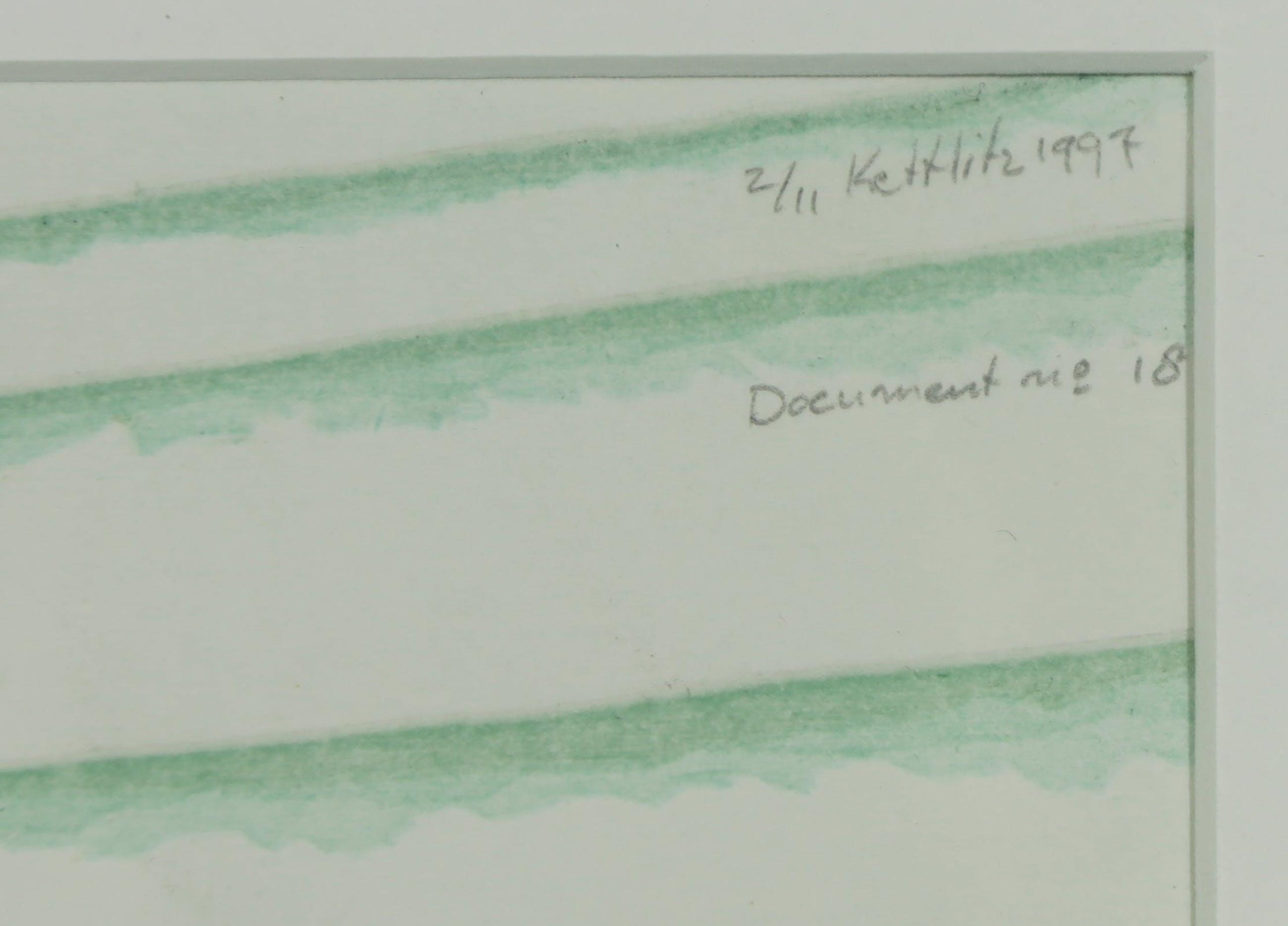 Sven Kettlitz - Houtsnede, Document no. 18 - Ingelijst kopen? Bied vanaf 1!