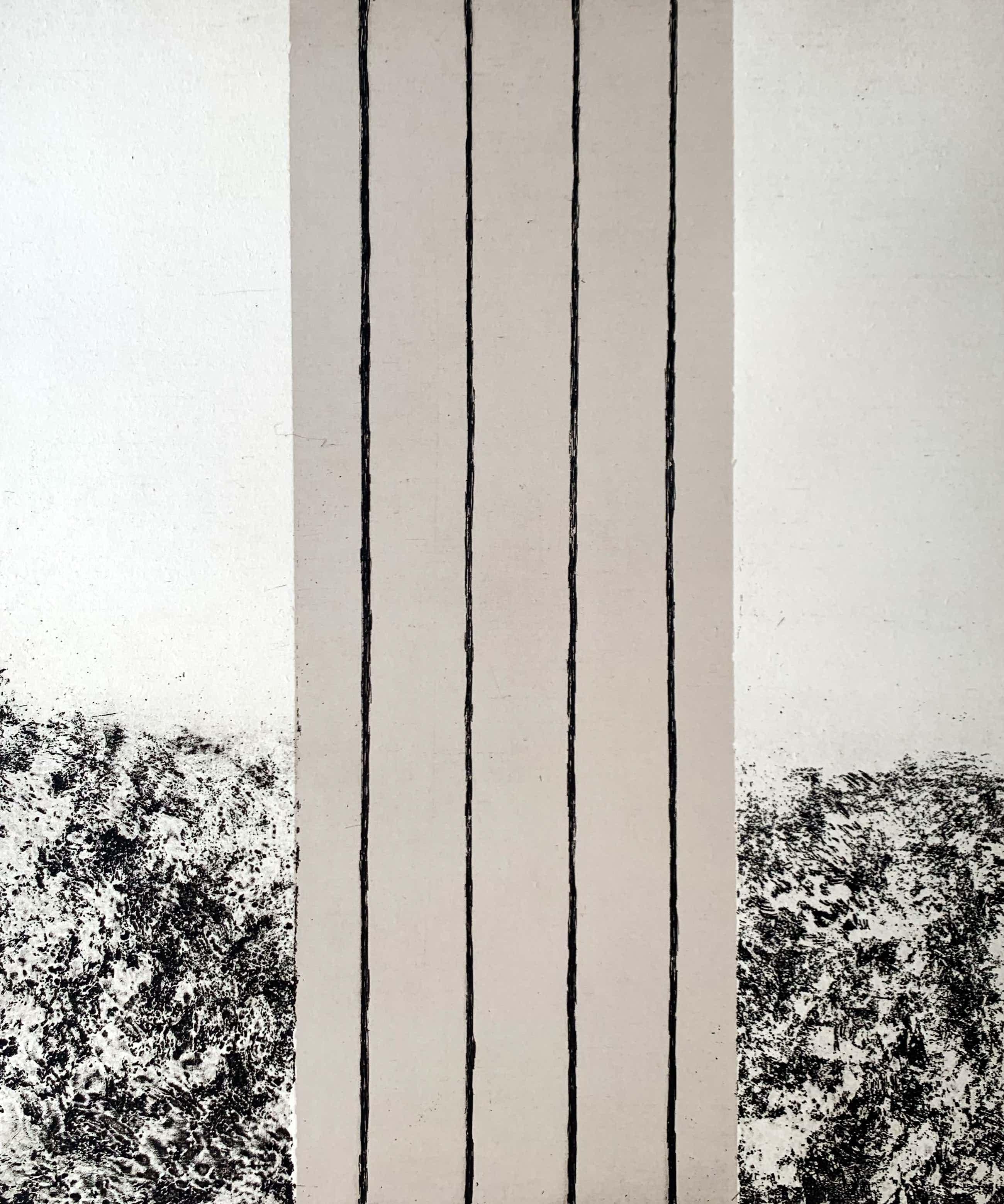 Sigurdur Gudmundsson - ets - 'Landschaft' - 1989 kopen? Bied vanaf 135!