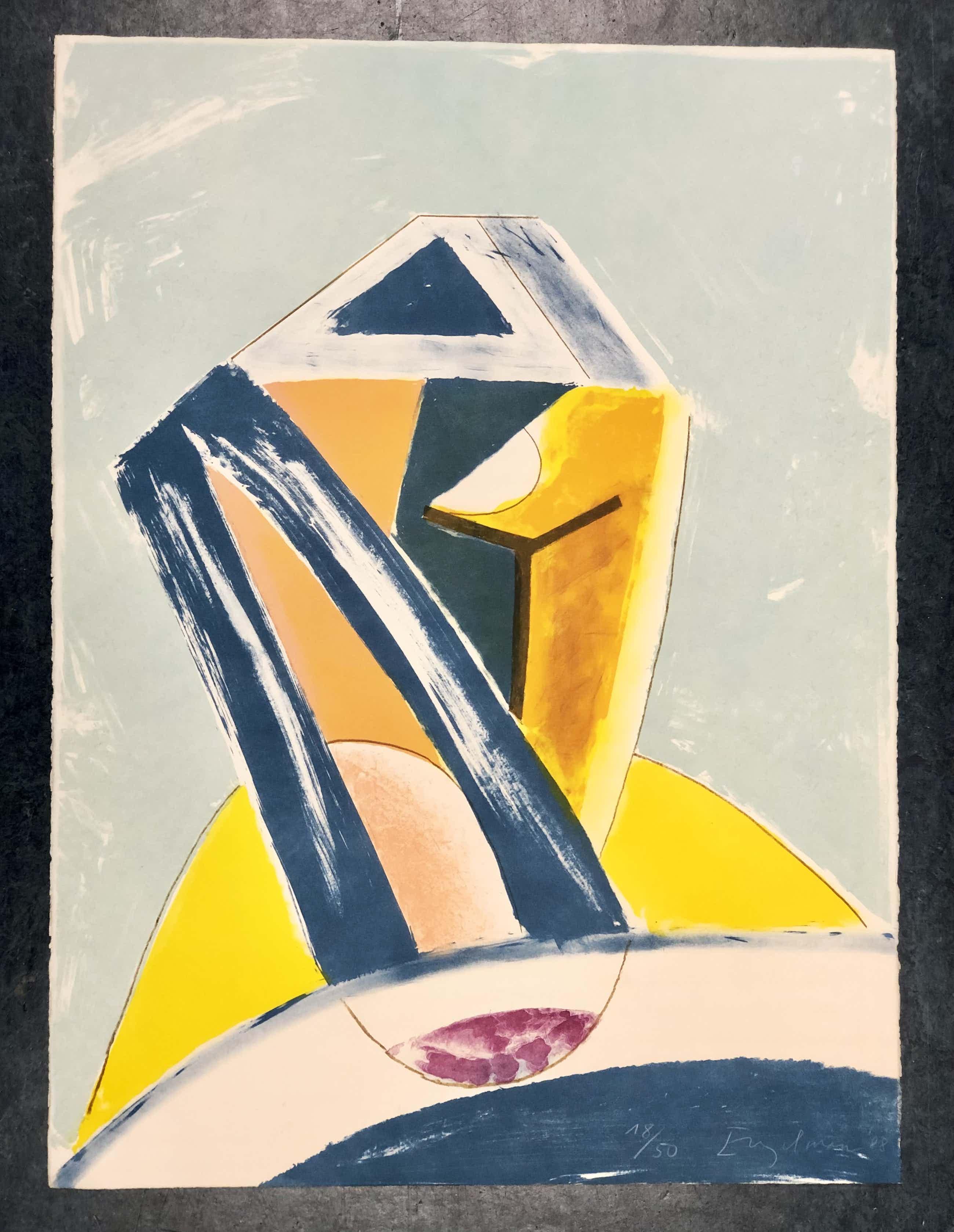 Martin Engelman - Abstracte compositie kopen? Bied vanaf 45!