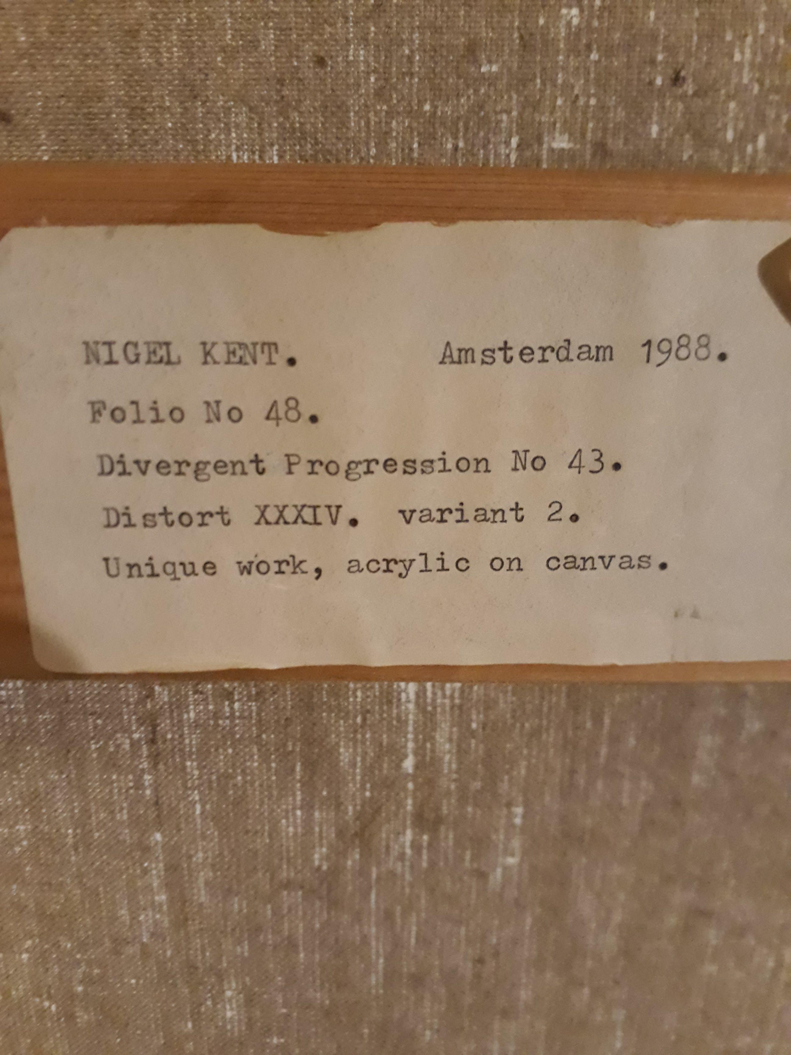 Nigel Kent - Divergent Progression Distert folio no 48 kopen? Bied vanaf 80!