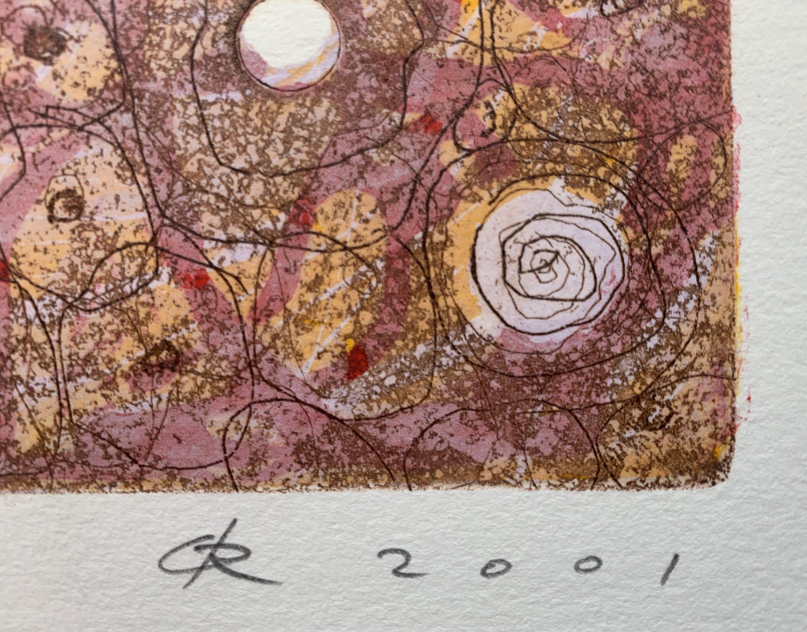 Rob de Graaf - ets/houtsnede | 'Unus Mundus' | 2001 kopen? Bied vanaf 75!