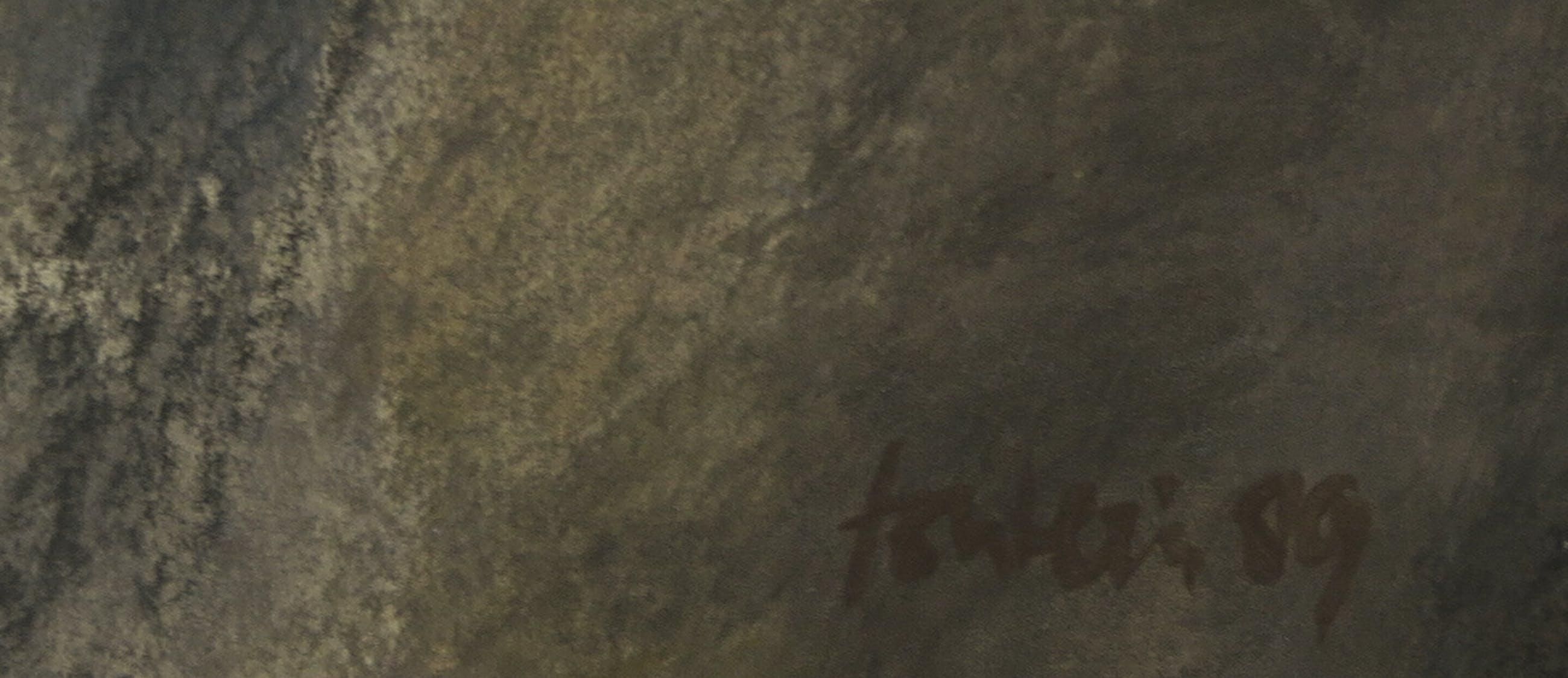 Niet of onleesbaar gesigneerd - Gemengde techniek op papier, Zonder titel - Ingelijst kopen? Bied vanaf 1!