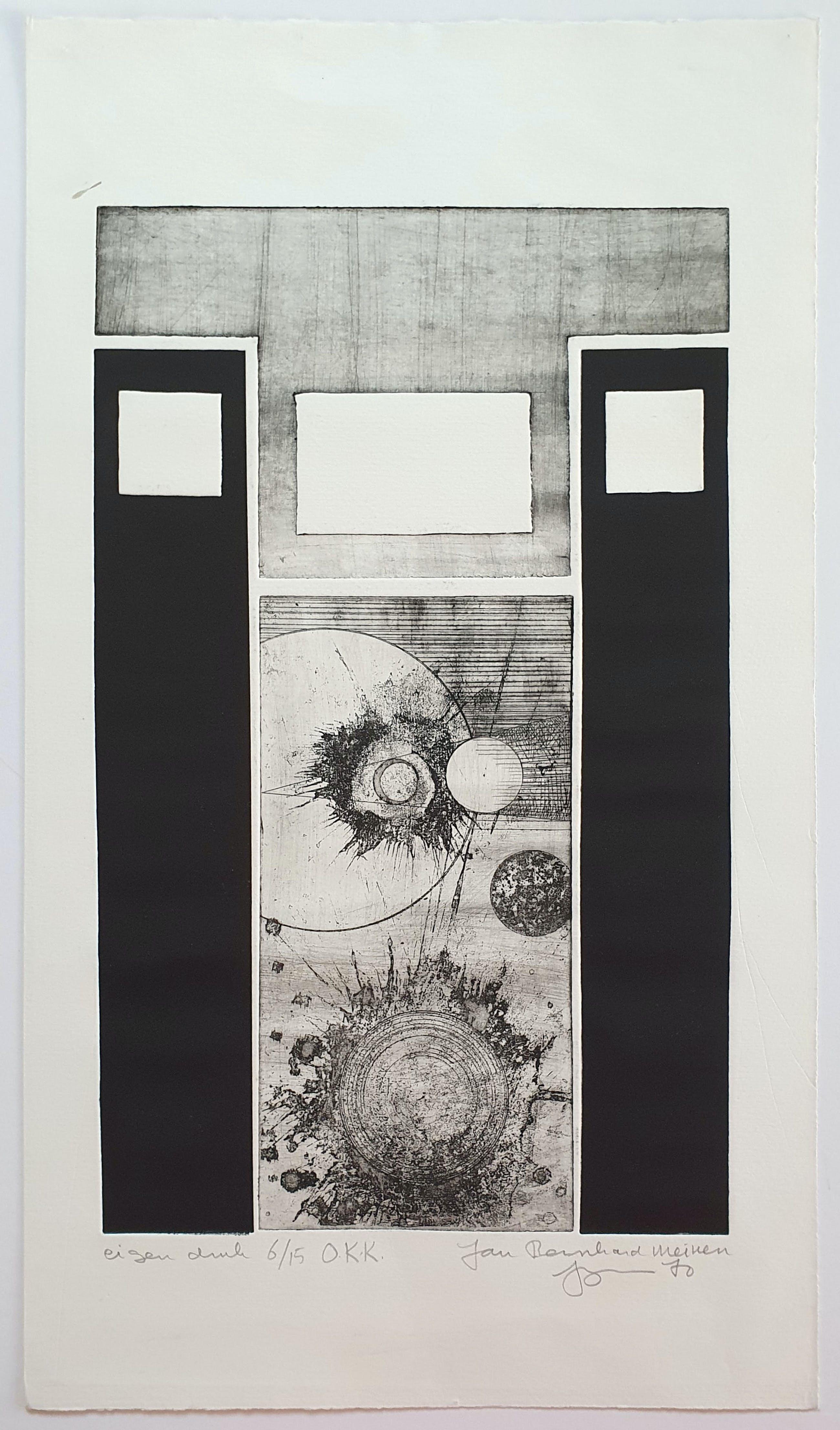 Jan Bernard Meinen - O.K.K. (Abstracte compositie met geometrische vormen) kopen? Bied vanaf 45!