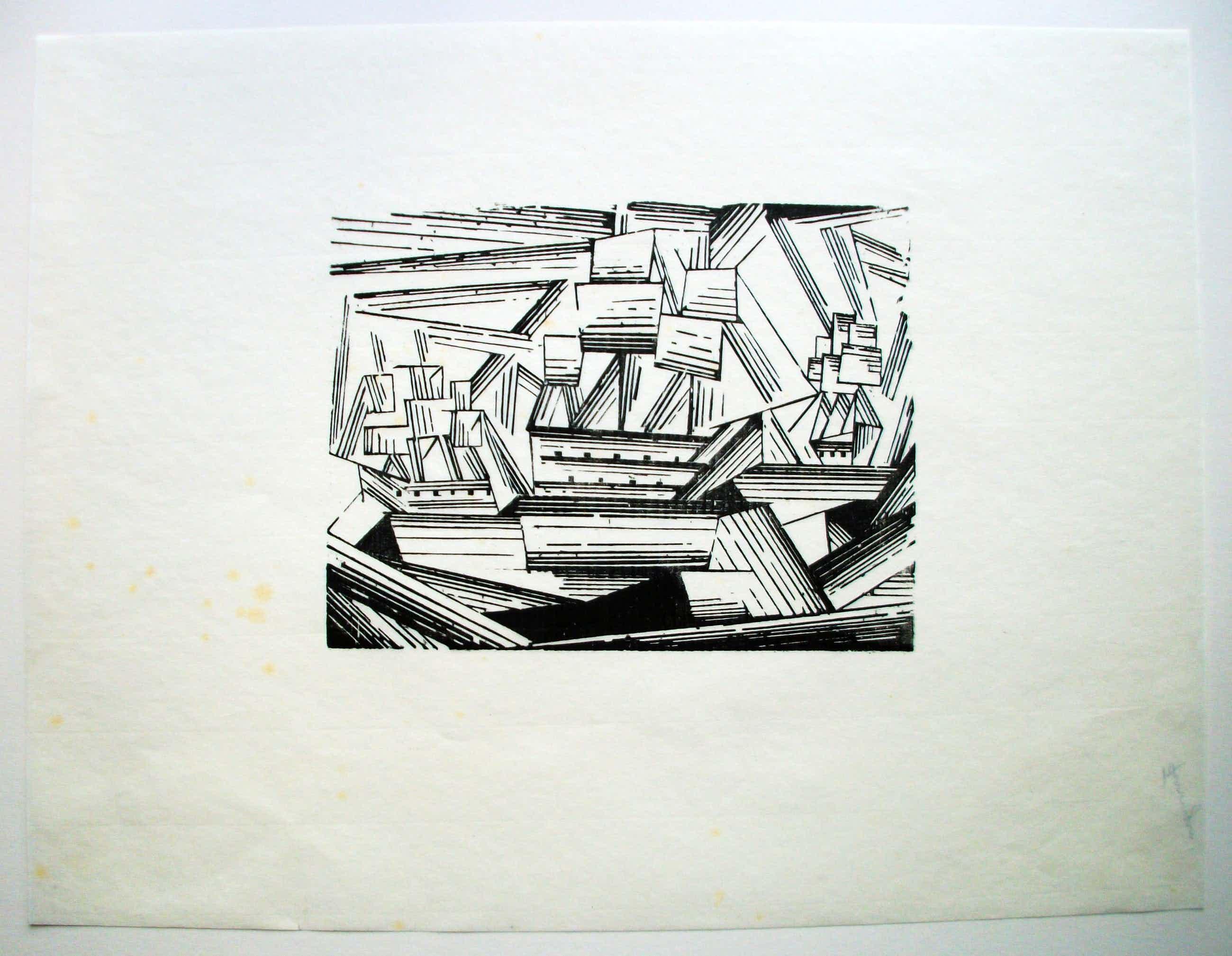 Lyonel Feininger - Kreuzende Segelschiffe Original Holzschnitt kopen? Bied vanaf 1780!