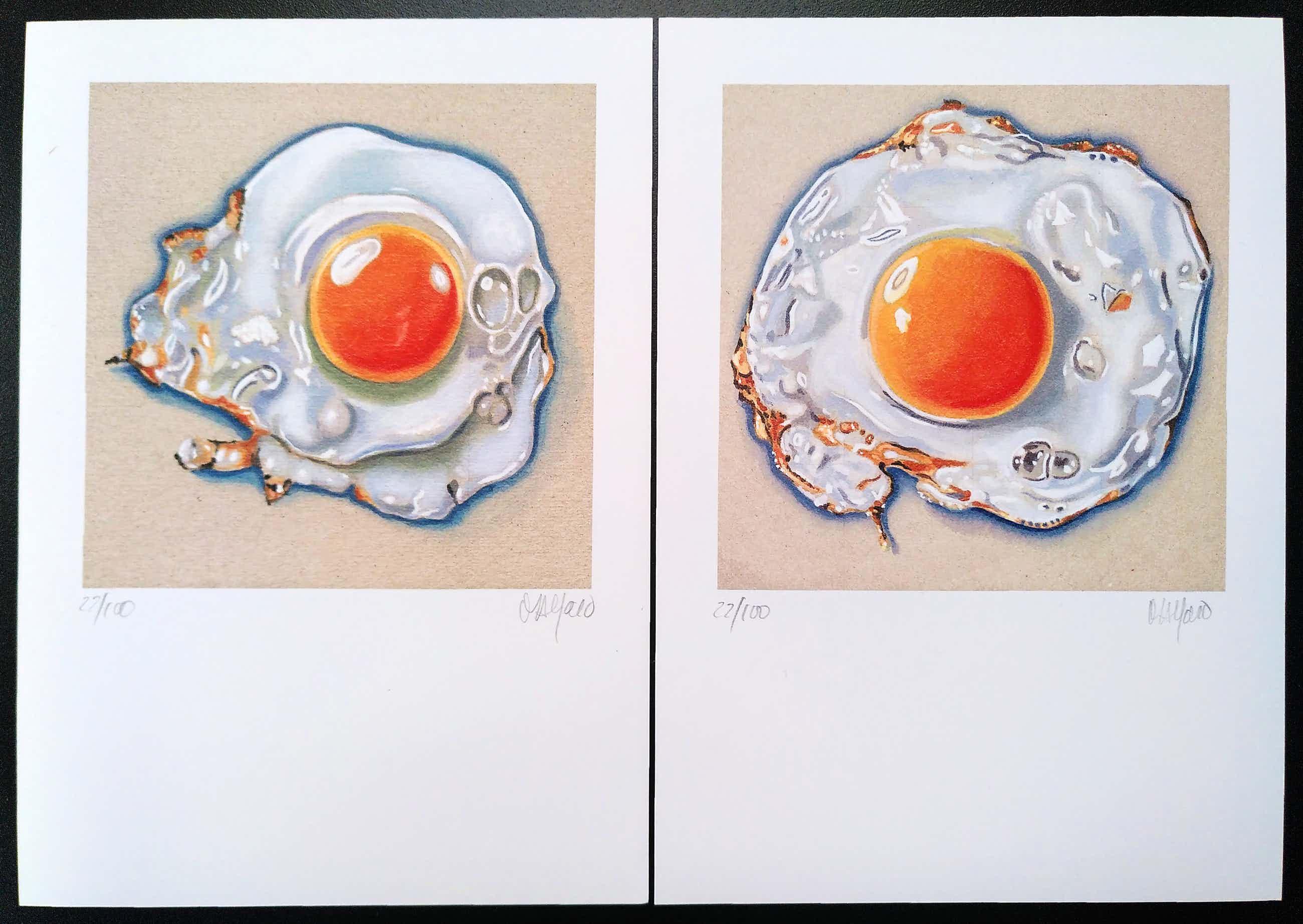 "Niet of onleesbaar gesigneerd - ""Fried Eggs"" (set van twee litho's) kopen? Bied vanaf 17!"