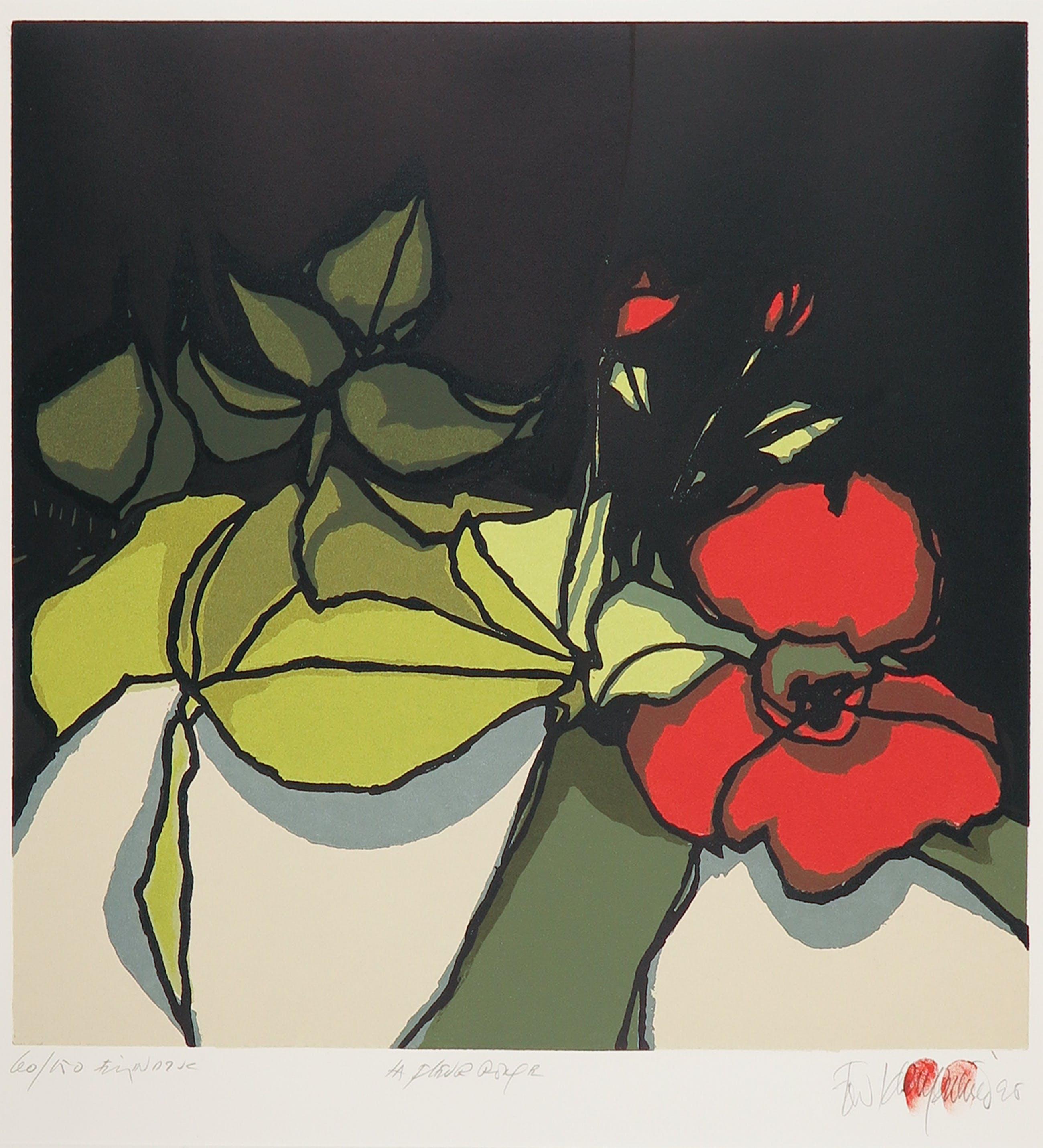 Fon Klement - Boardsnede, La fleur rouge kopen? Bied vanaf 80!