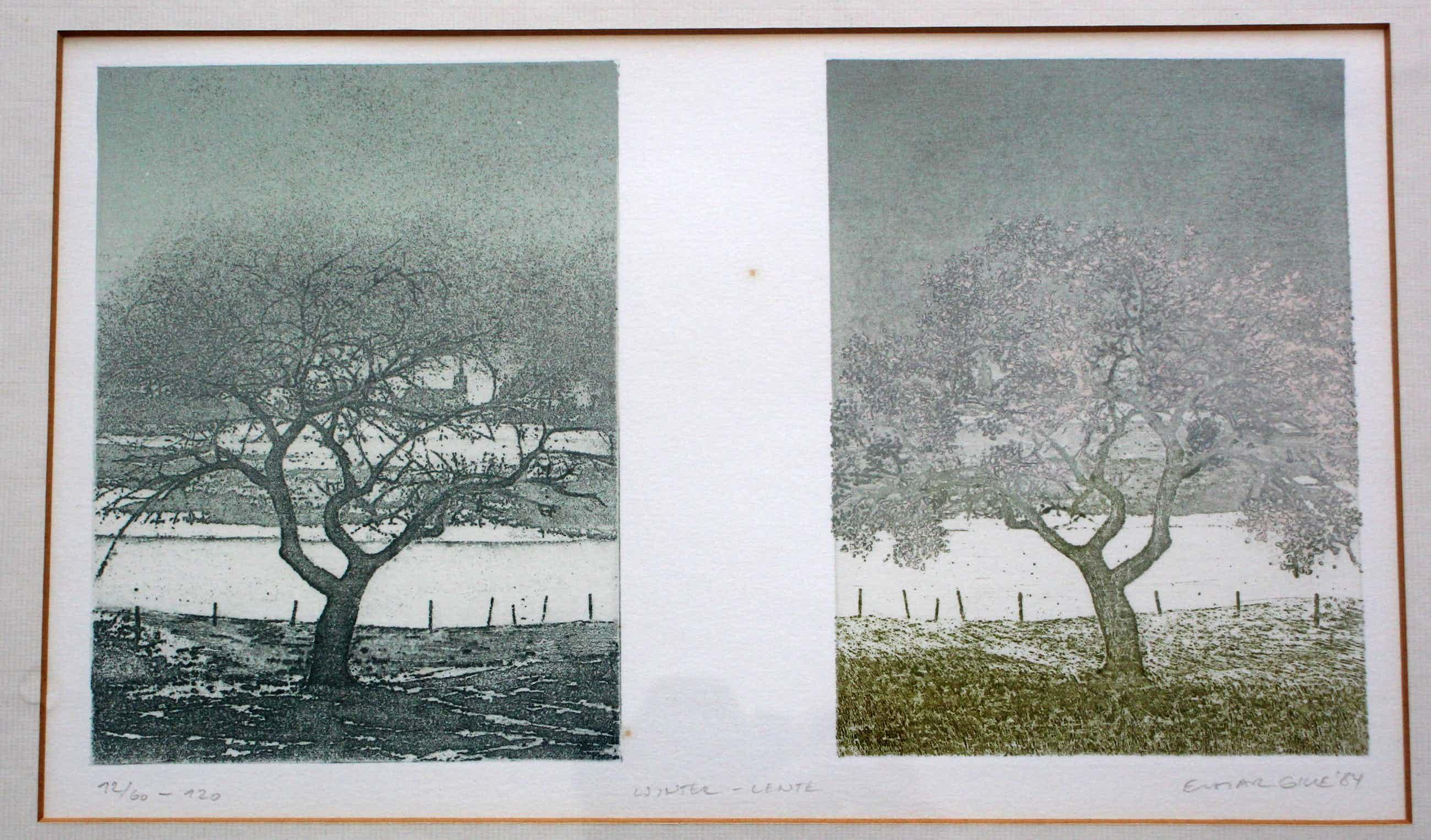 Elmar Gille - Litho: winter/lente - 1984 kopen? Bied vanaf 85!