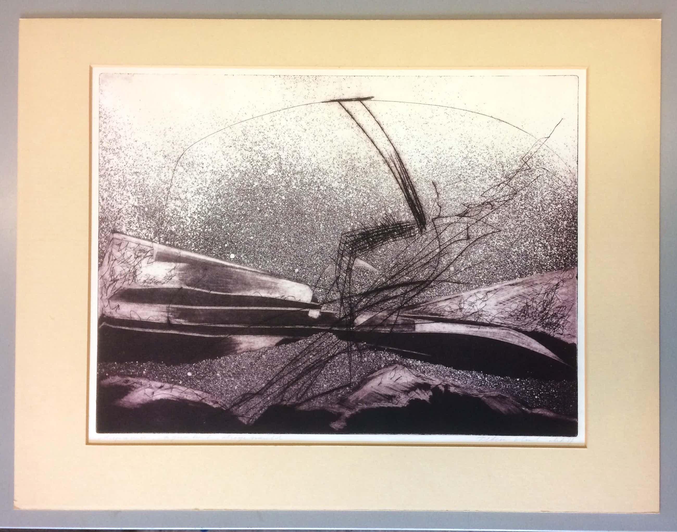 Peter Kool - abstract landschap kopen? Bied vanaf 100!