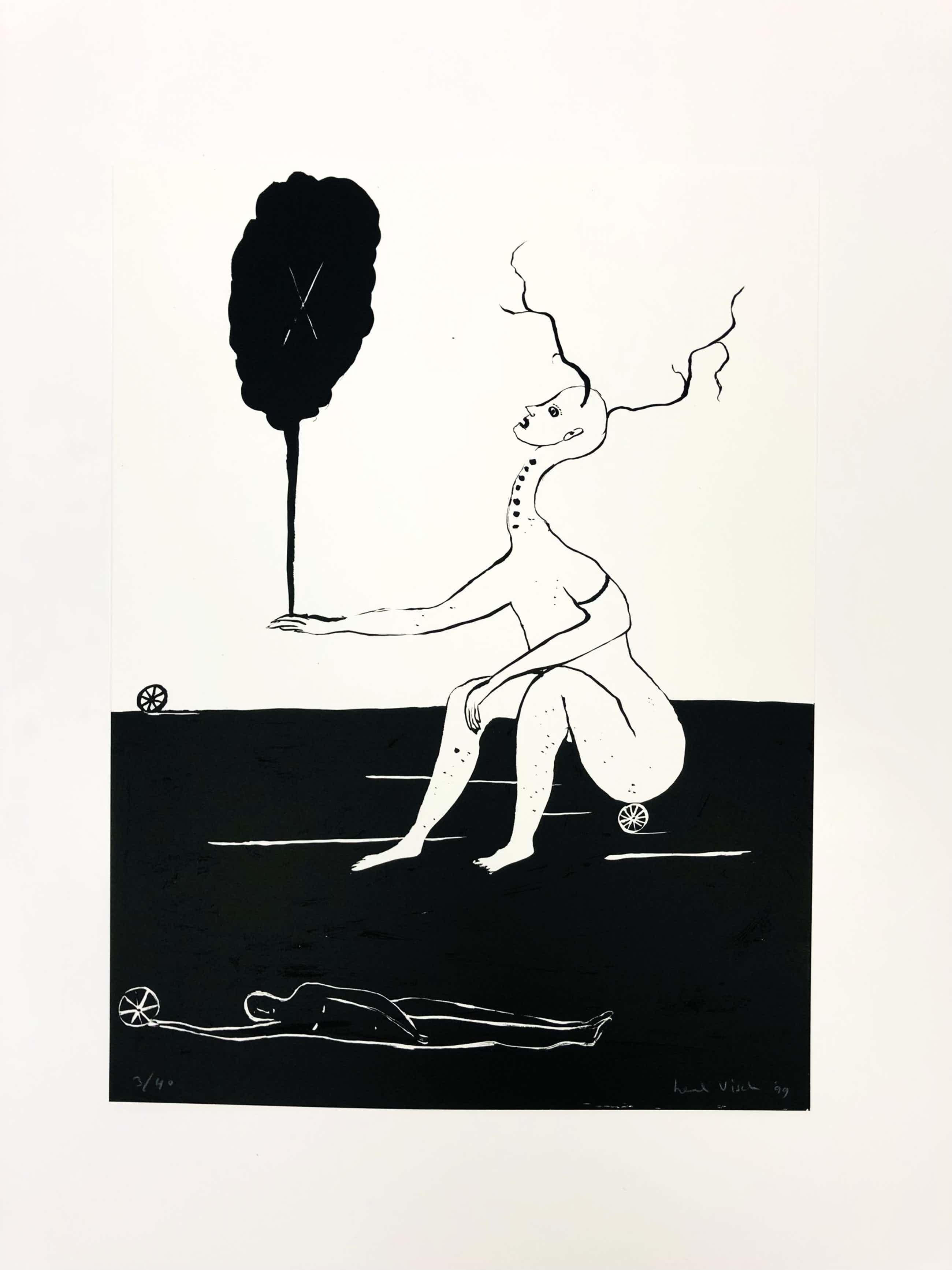 Henk Visch - Uit de serie 'Vijf tekeningen 1999' kopen? Bied vanaf 95!