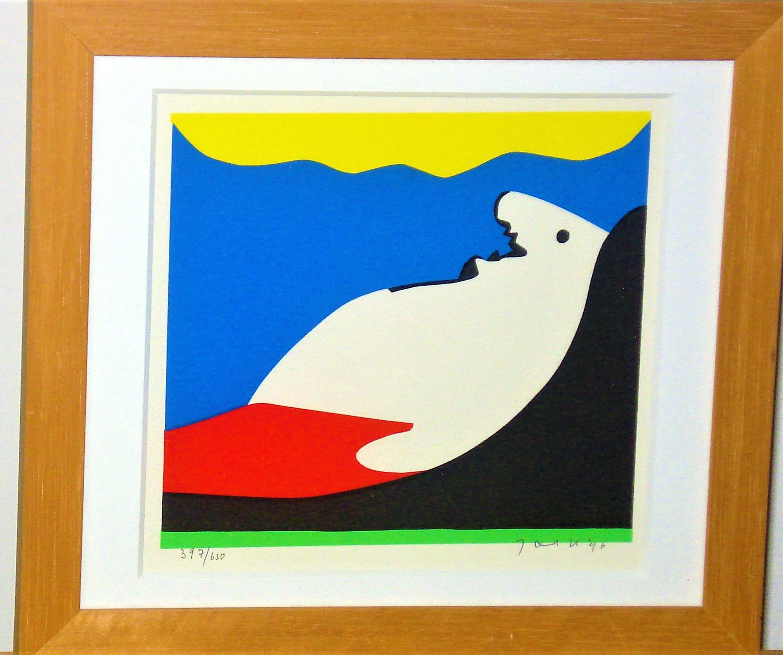 Jan Snoeck - Prachtige, kleurrijke, ingelijste zeefdruk kopen? Bied vanaf 72!