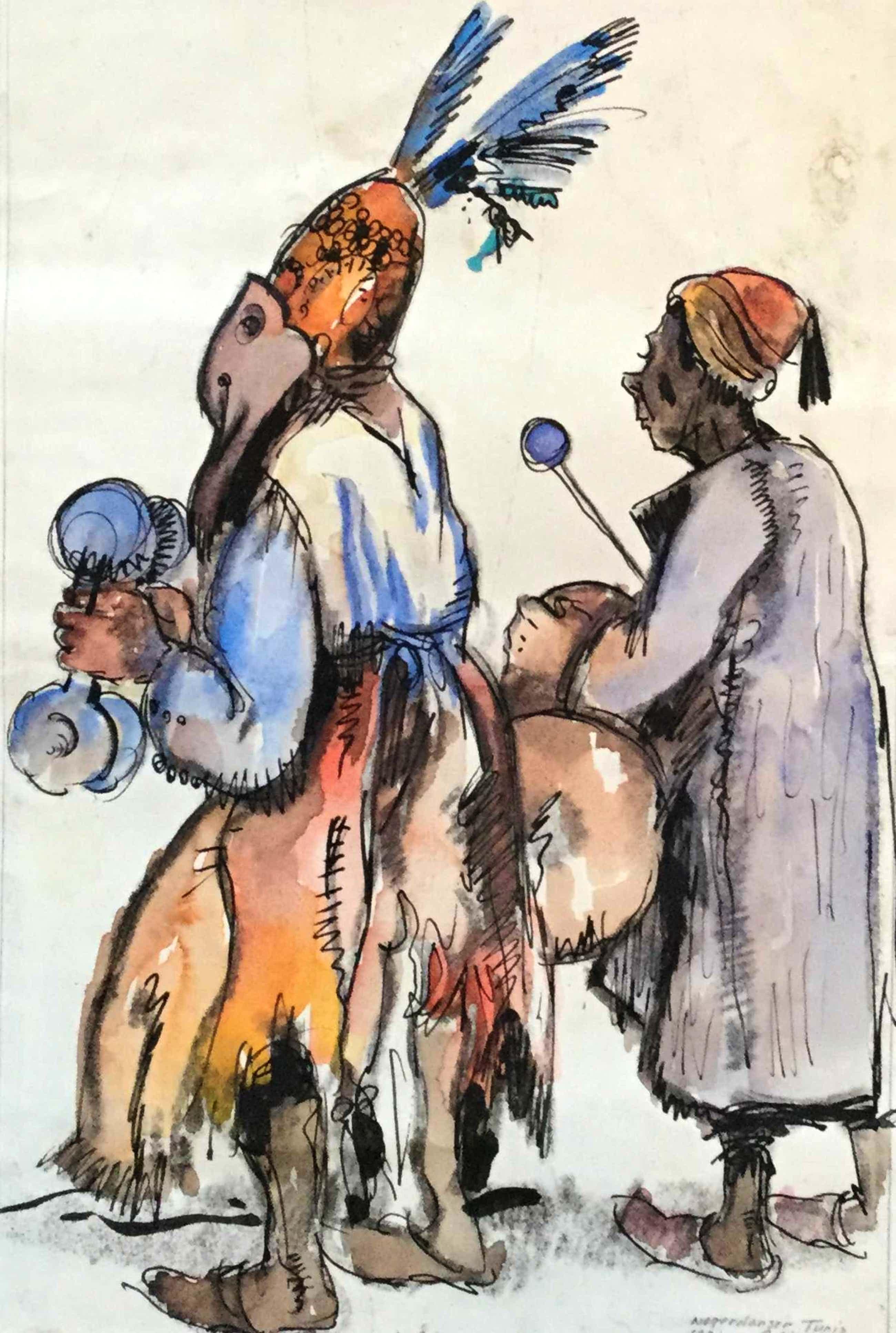 Gerard Huijsser - C4992-11, Danser, Tunis (Tunesië), 1931 kopen? Bied vanaf 95!
