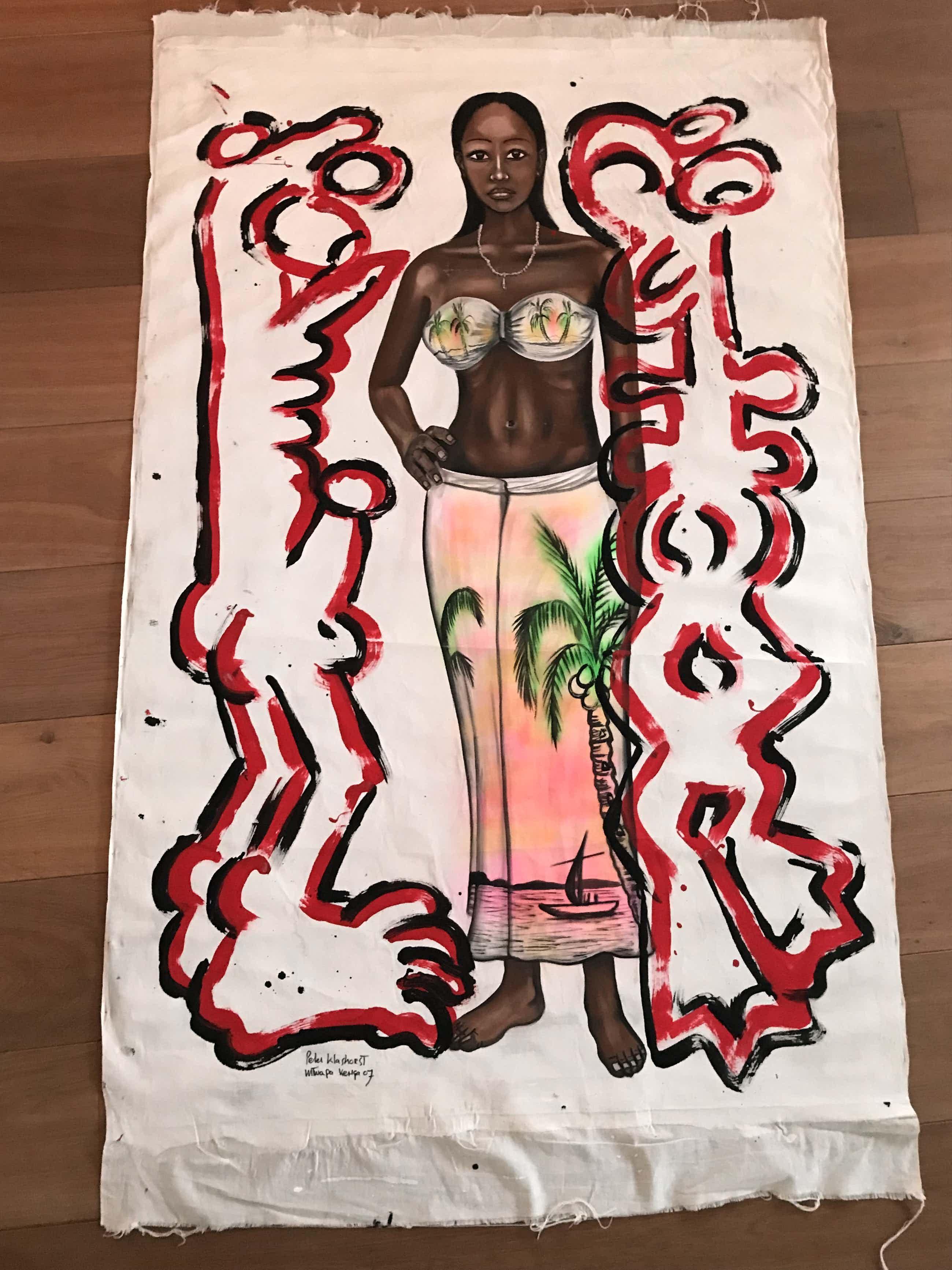 Peter Klashorst - Bijzonder Fetisch schilderij zeer groot! kopen? Bied vanaf 580!