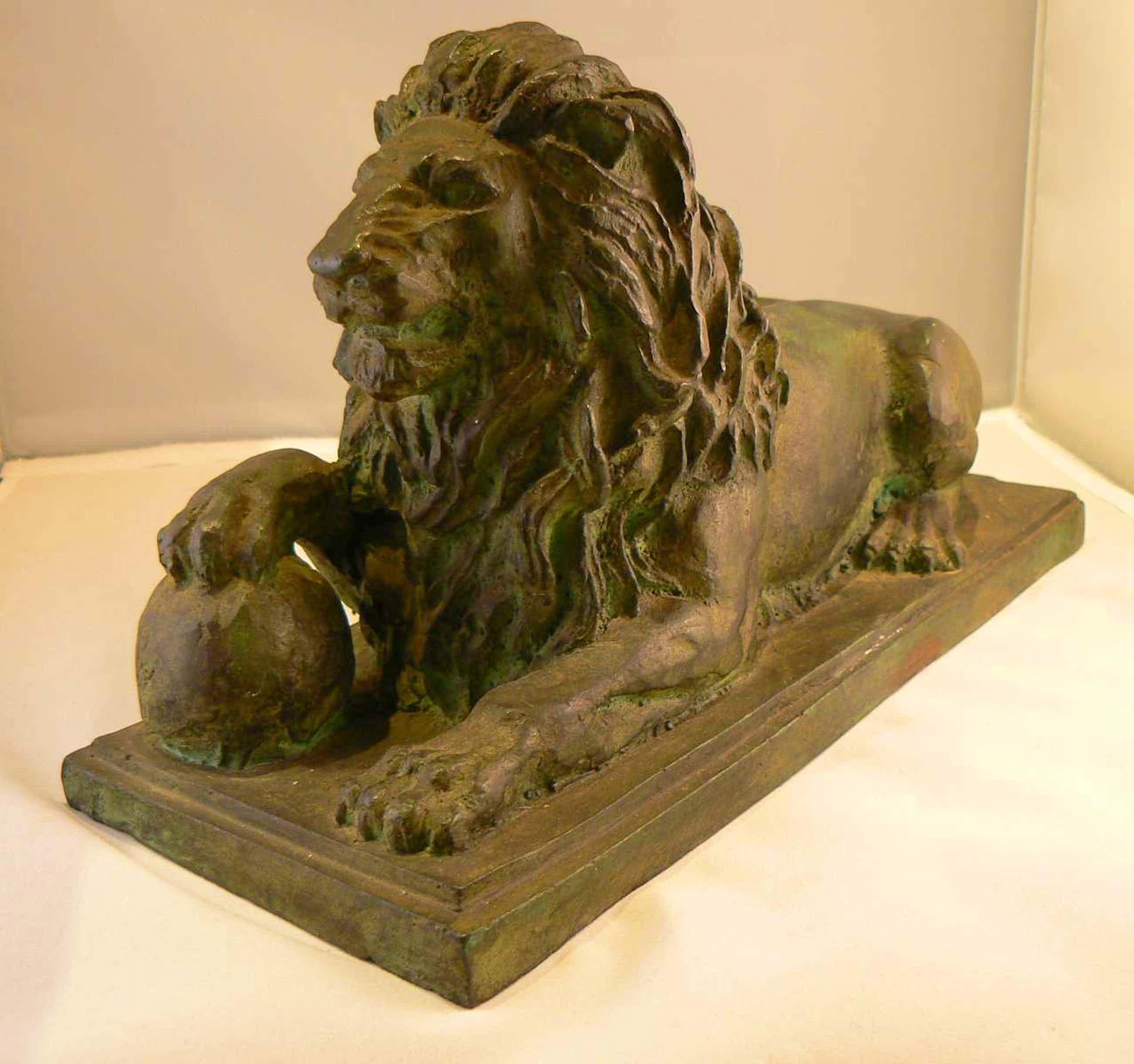 Brons (Onbekend) - Bronzen Leeuw kopen? Bied vanaf 125!