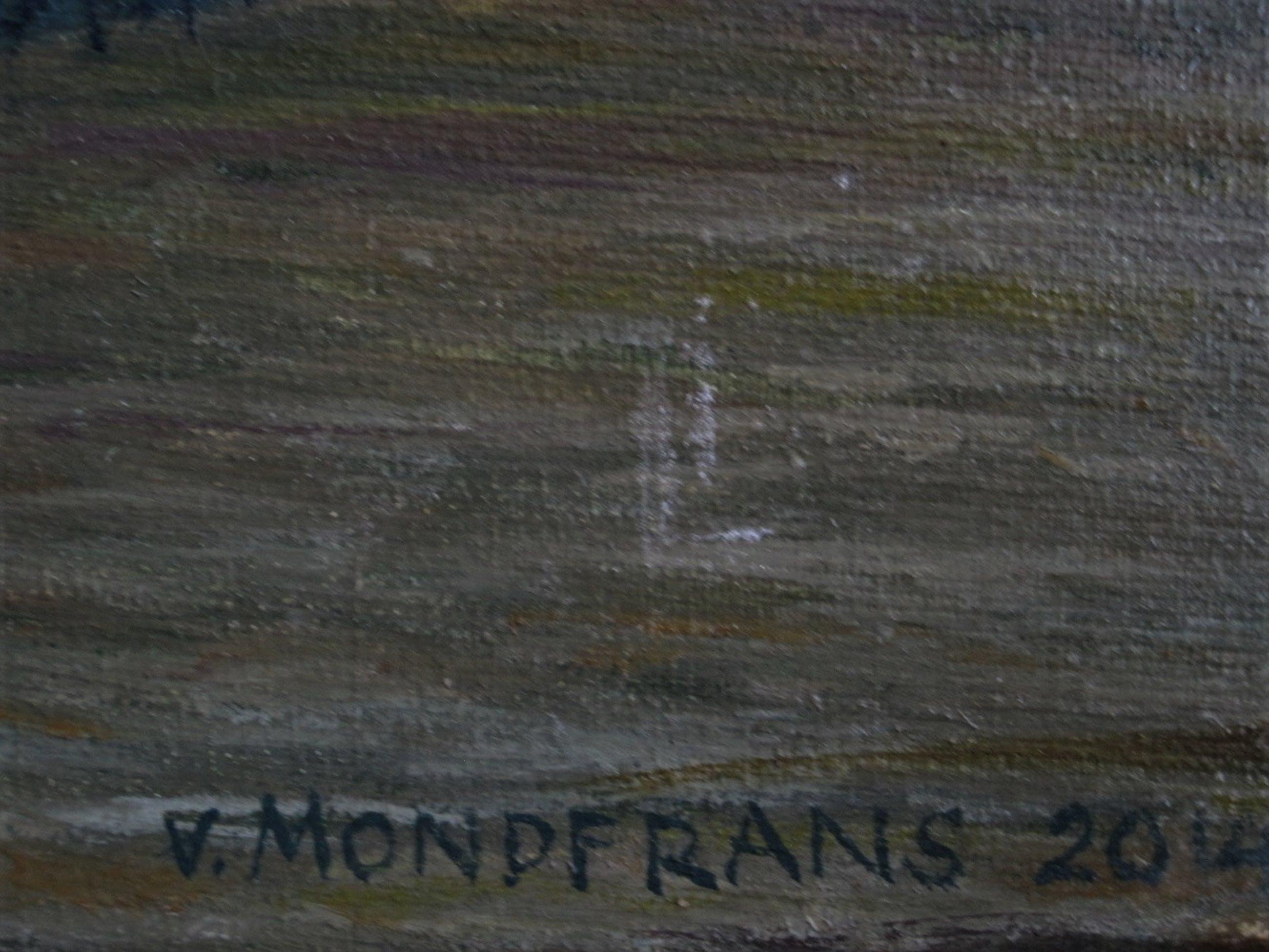 """Erna van Mondfrans - Fraai verstild realistisch olieverf """"Huis in de Provence Frankrijk"""" gesigneerd kopen? Bied vanaf 80!"""