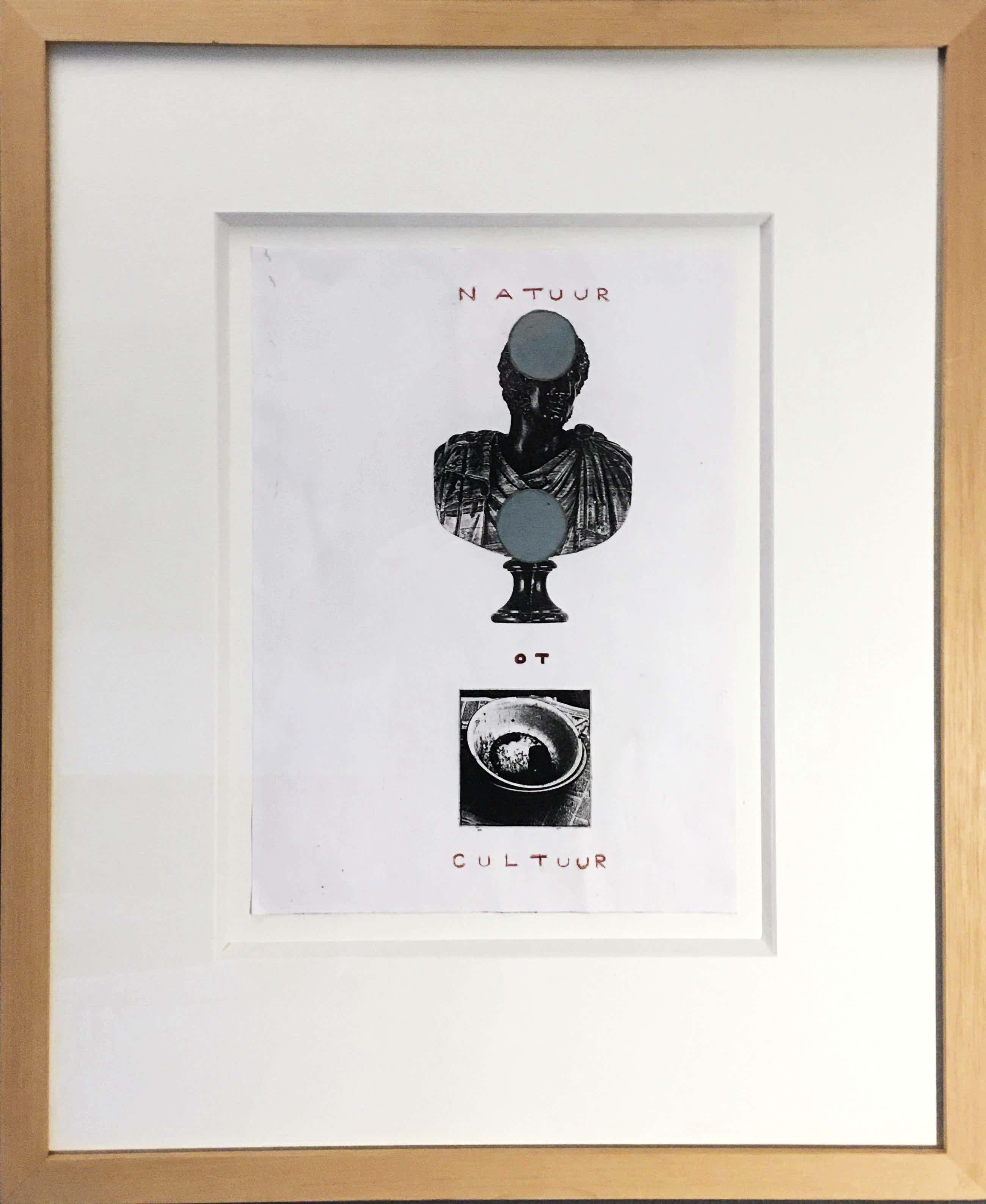 Reinier Lucassen - 'Natuur Ot Cultuur' - collage - 1999 kopen? Bied vanaf 375!