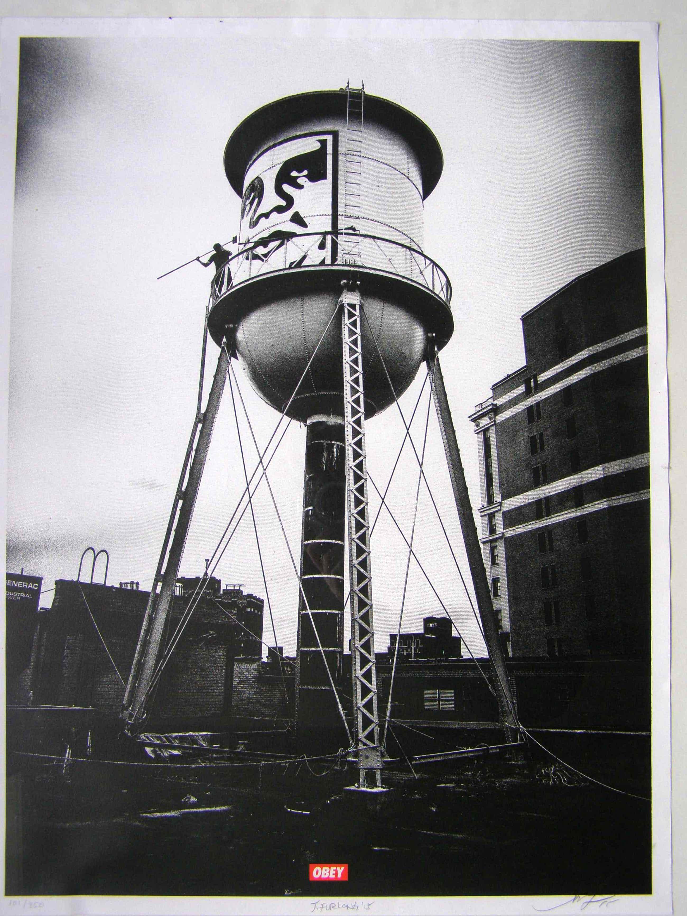 Shepard Fairey - Icon Water Tower, 2015 ( Silver Edition) kopen? Bied vanaf 100!