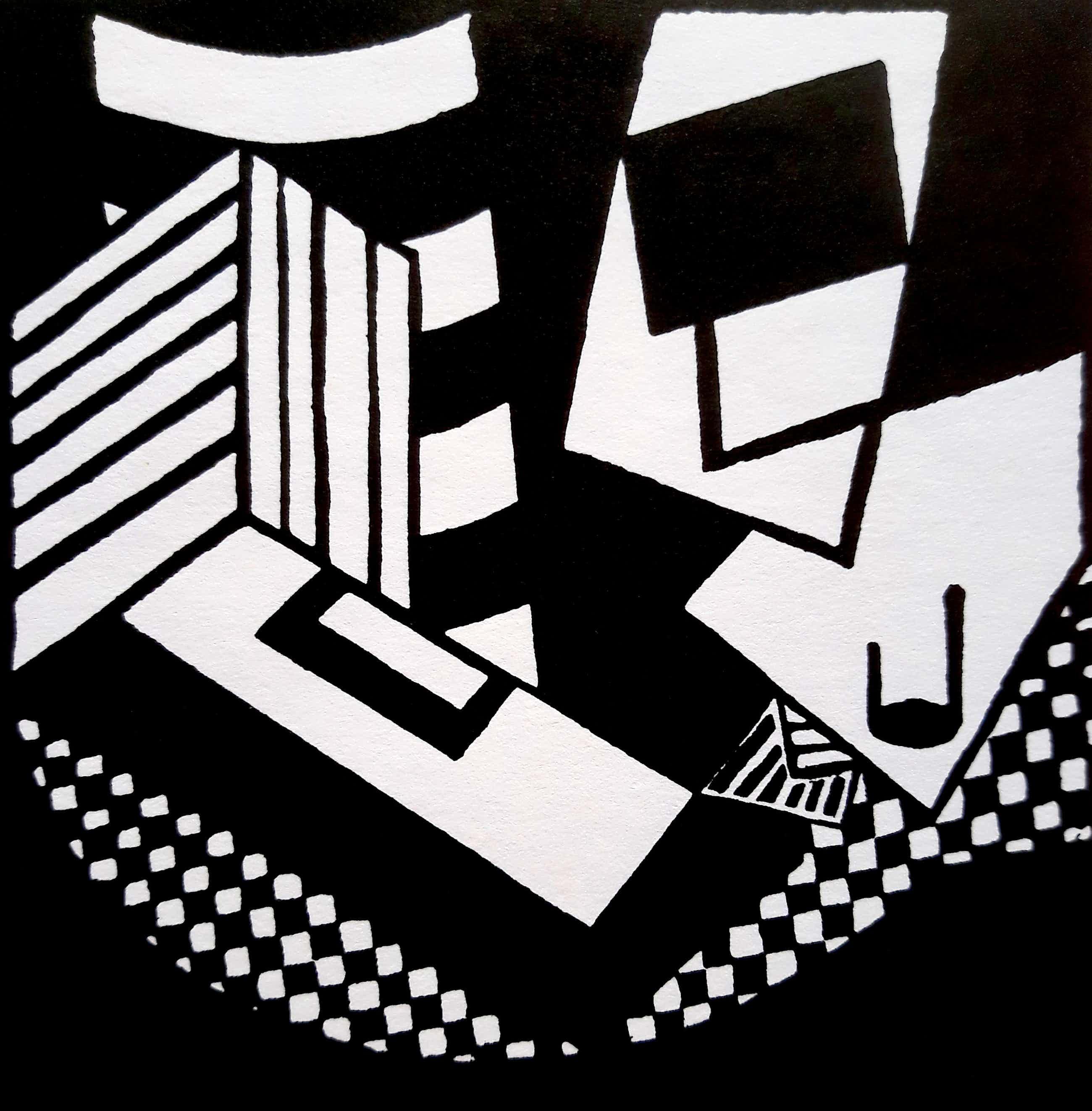 Cesar Domela - Constructivistische compositie, zeefdruk kopen? Bied vanaf 115!