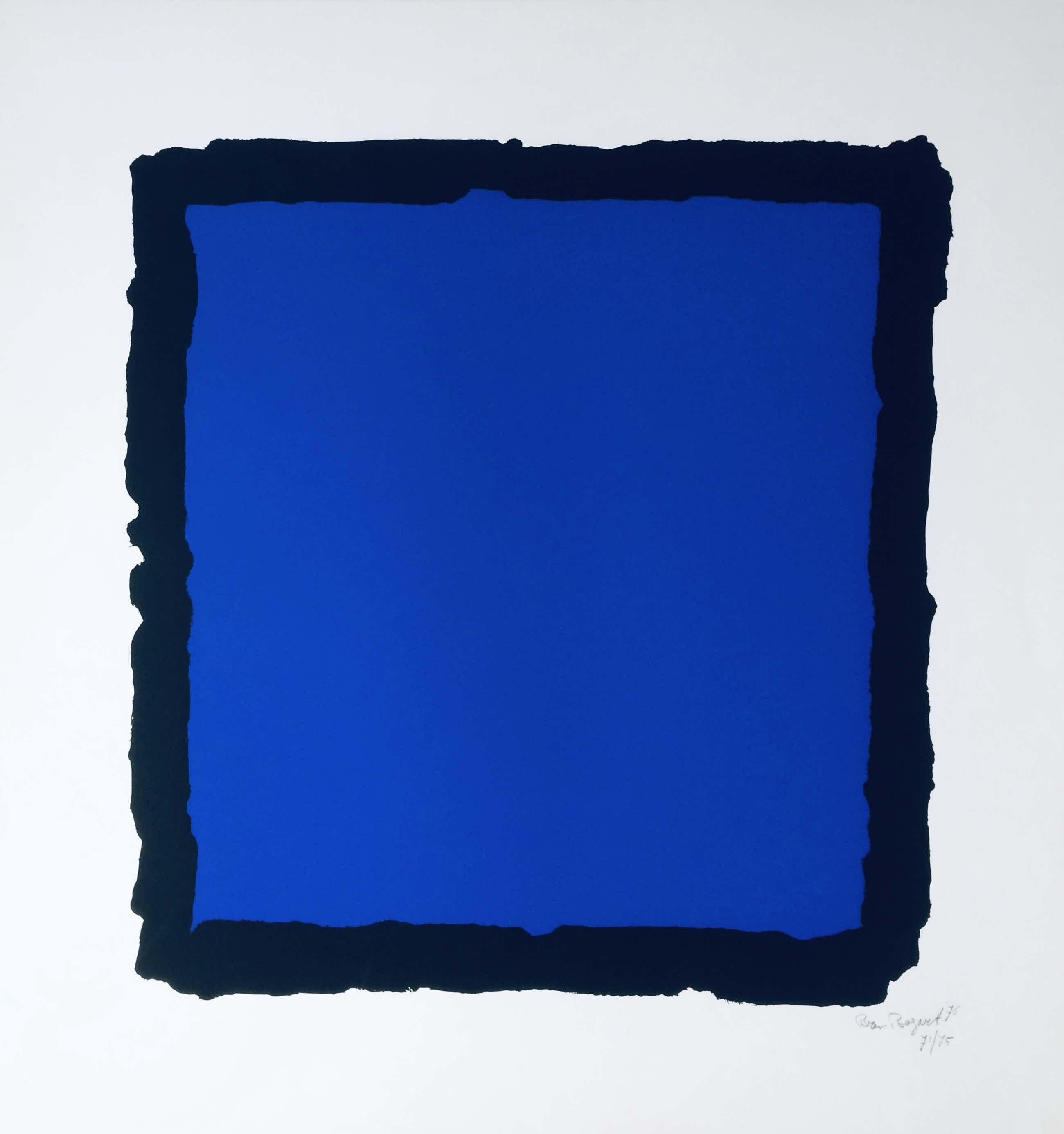 Bram Bogart - compositie in zwart en blauw kopen? Bied vanaf 700!