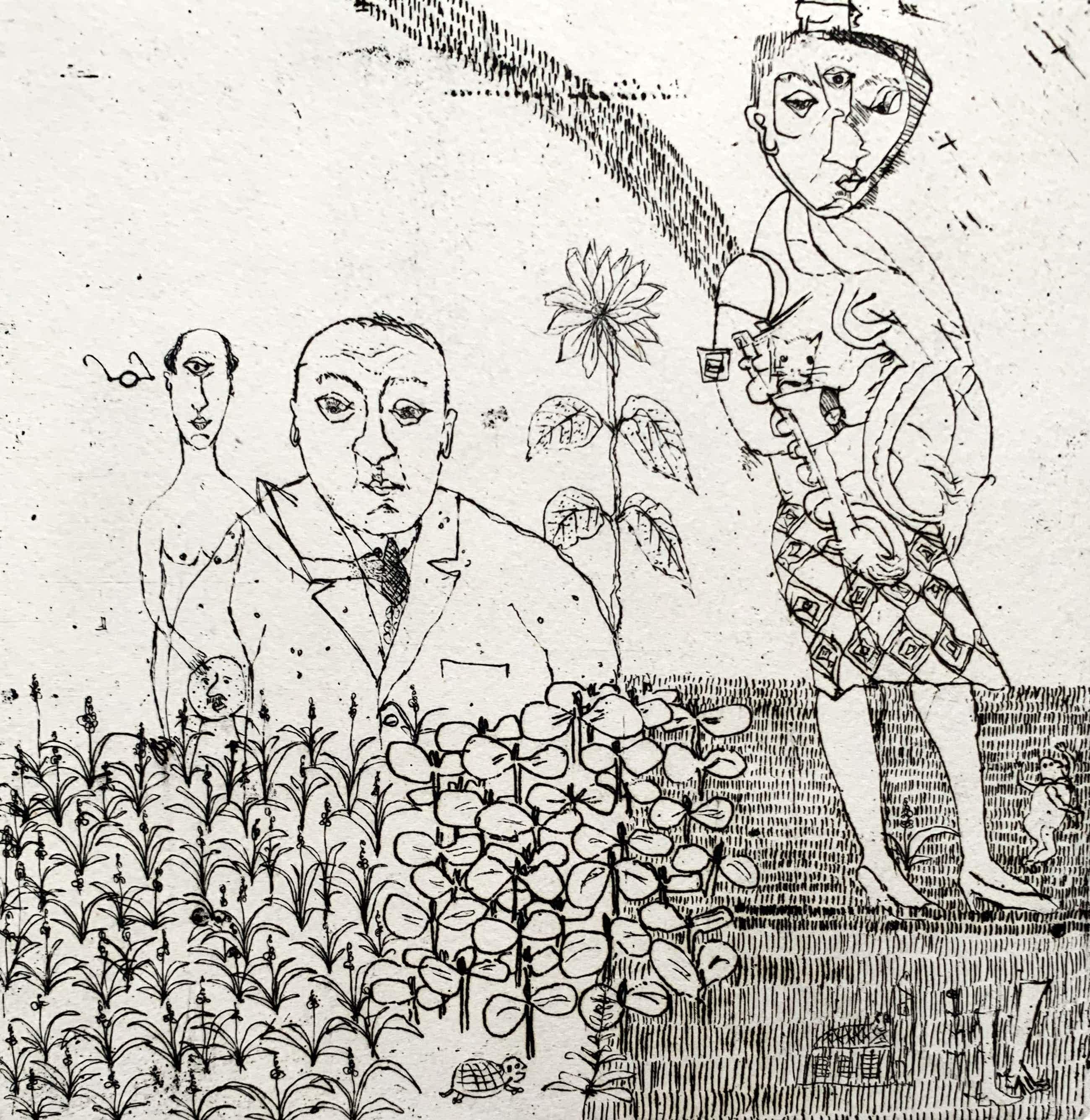 Sipke Huismans - ets | 'Een grote dorst' | 1967 kopen? Bied vanaf 60!