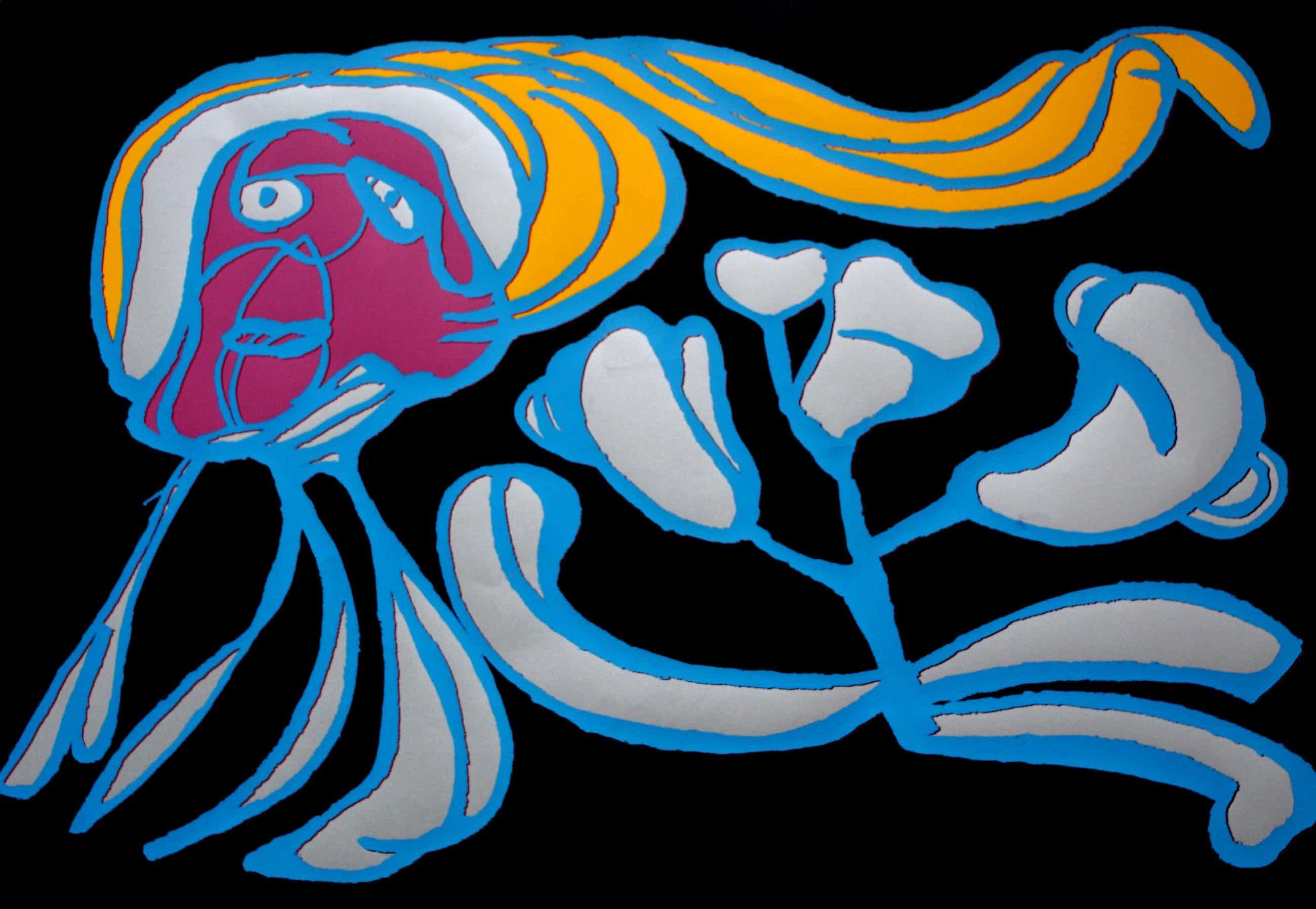 Karel Appel - Floating Flower passion kopen? Bied vanaf 550!