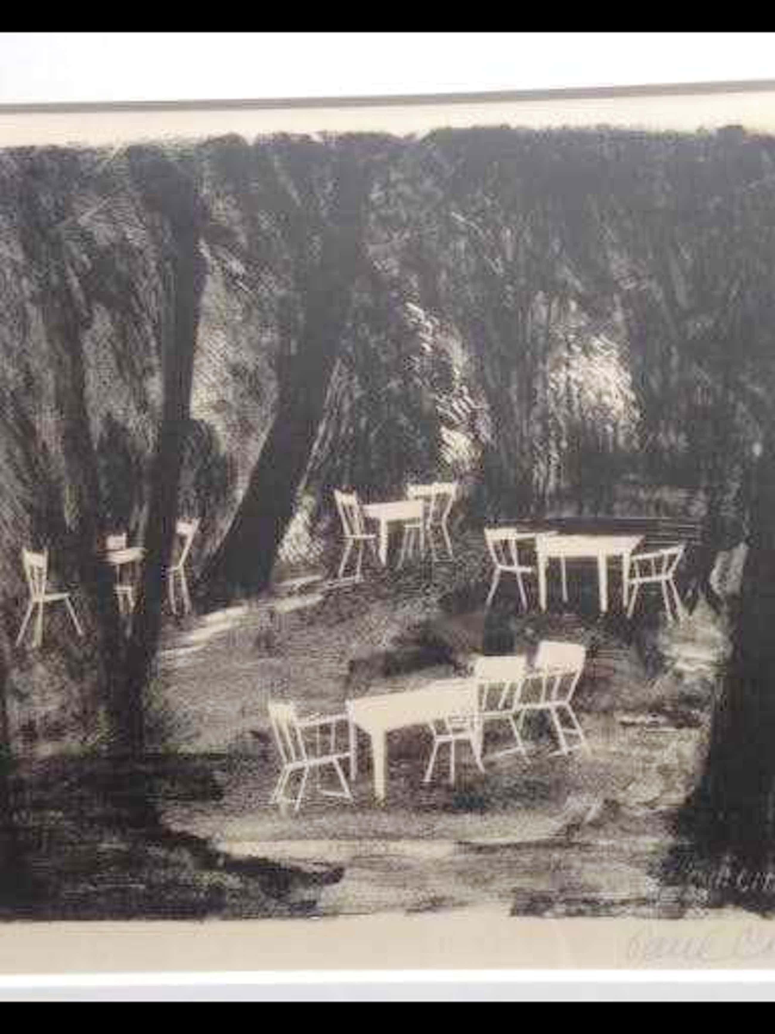 Paul Citroen - Wit tuinmeubel op open plek in het bos kopen? Bied vanaf 130!